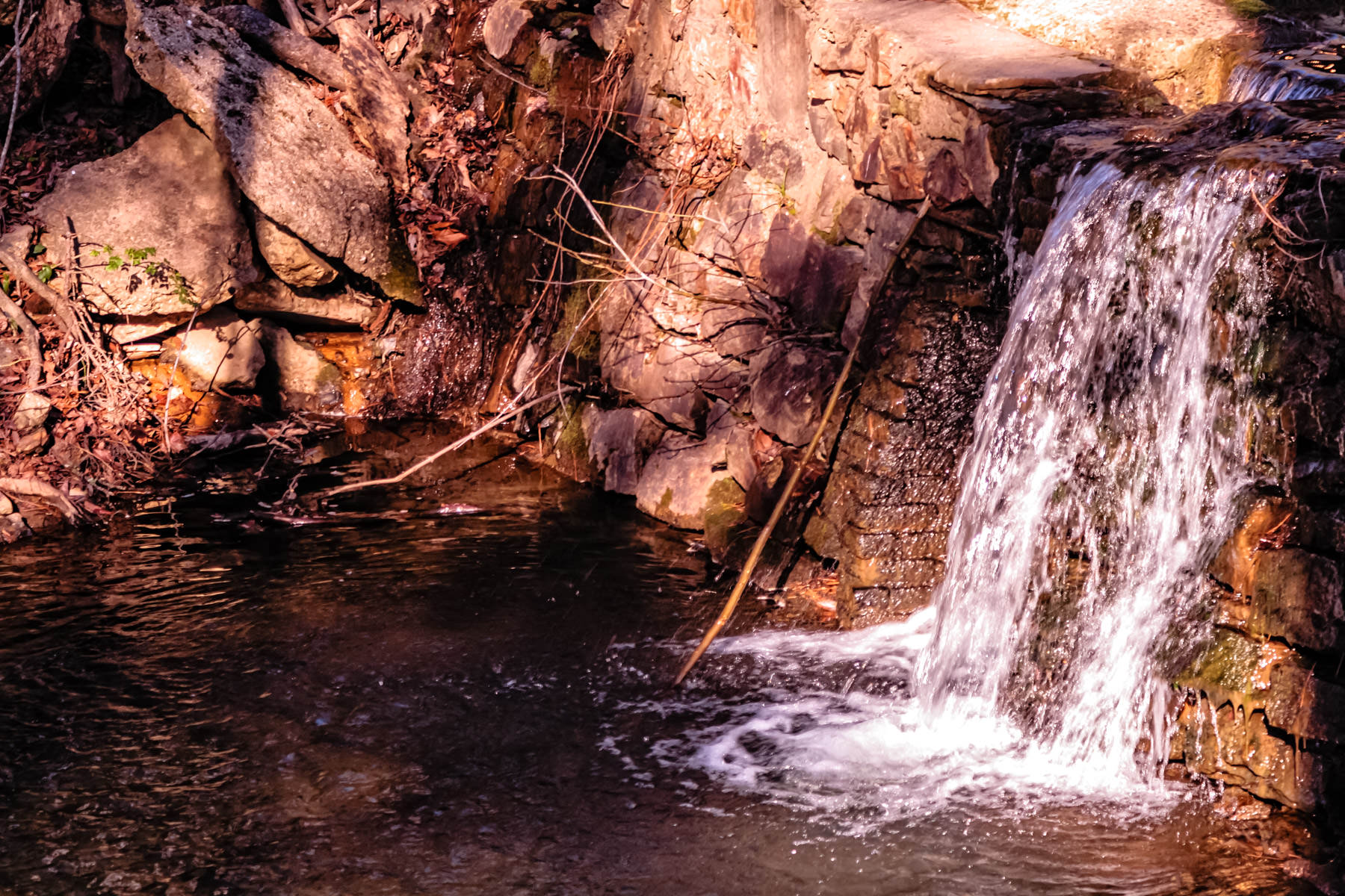 A small waterfall in Hot Springs, Arkansas.
