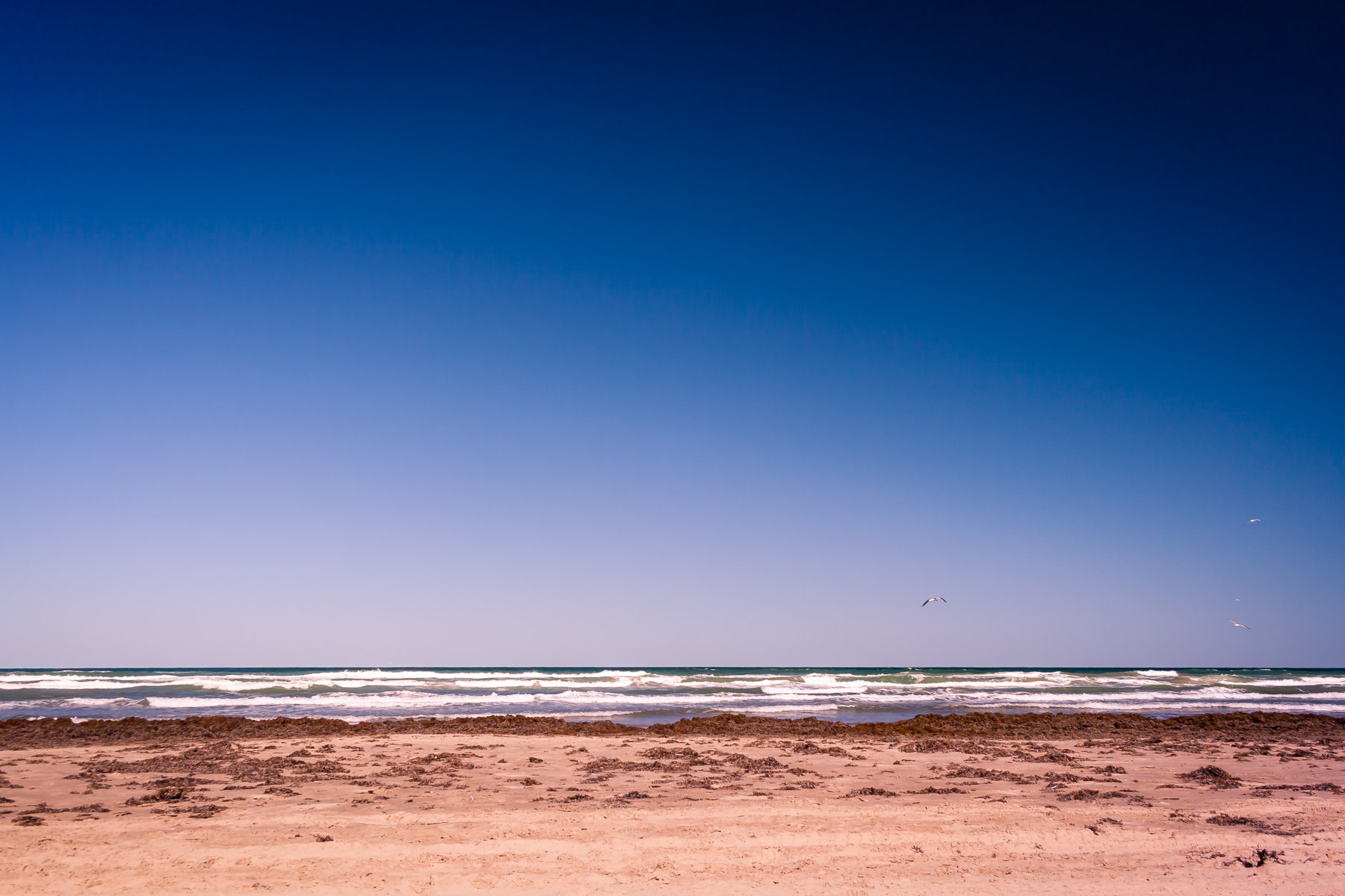The Gulf of Mexico as seen from South Padre Island, Texas.