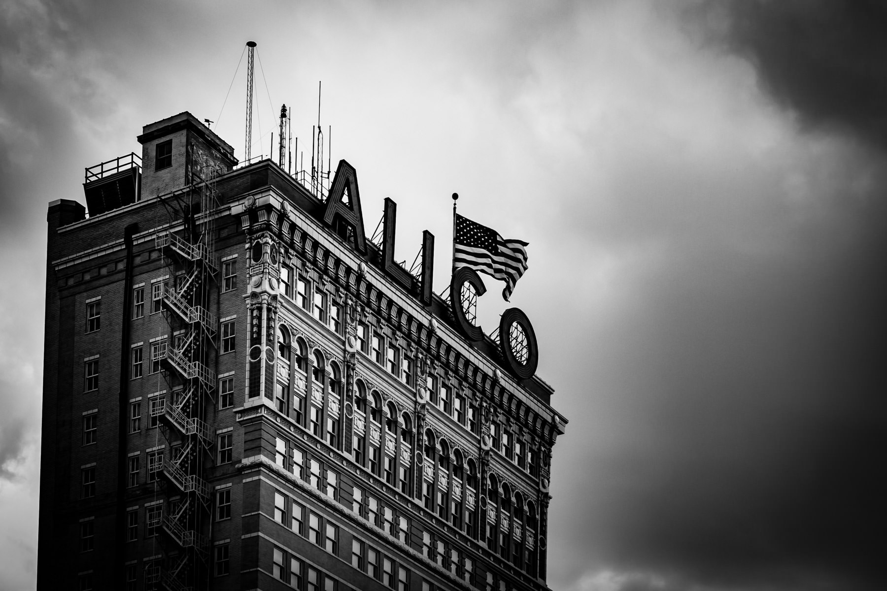 The ALICO building in Downtown Waco, Texas.