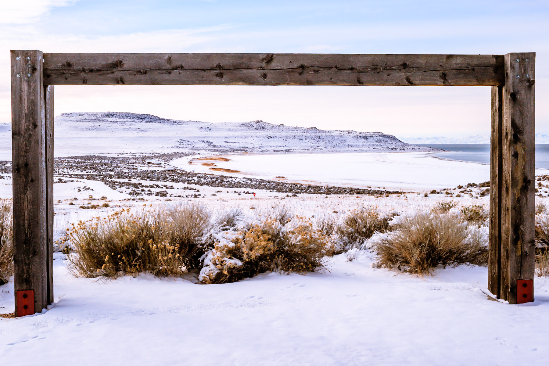 The outdoor amphitheatre at Utah's Antelope Island State Park boasts an impressive backdrop.