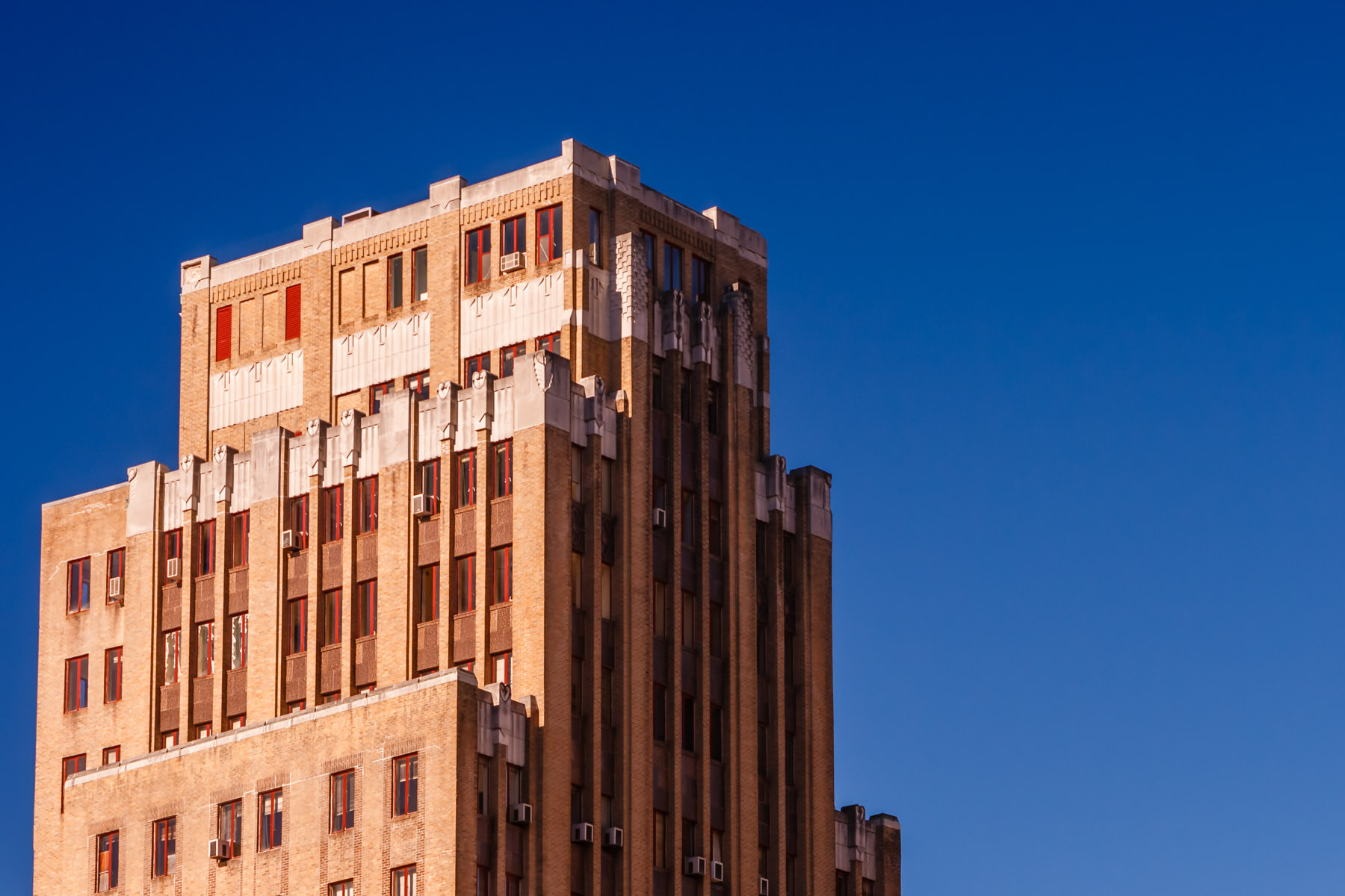 The decaying Medical Arts Building, once the tallest building in Arkansas, rises into the sky over Hot Springs.