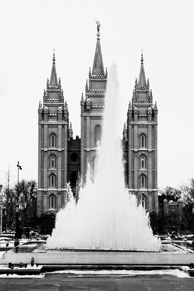 The Salt Lake Temple at Temple Square, Salt Lake City, Utah.