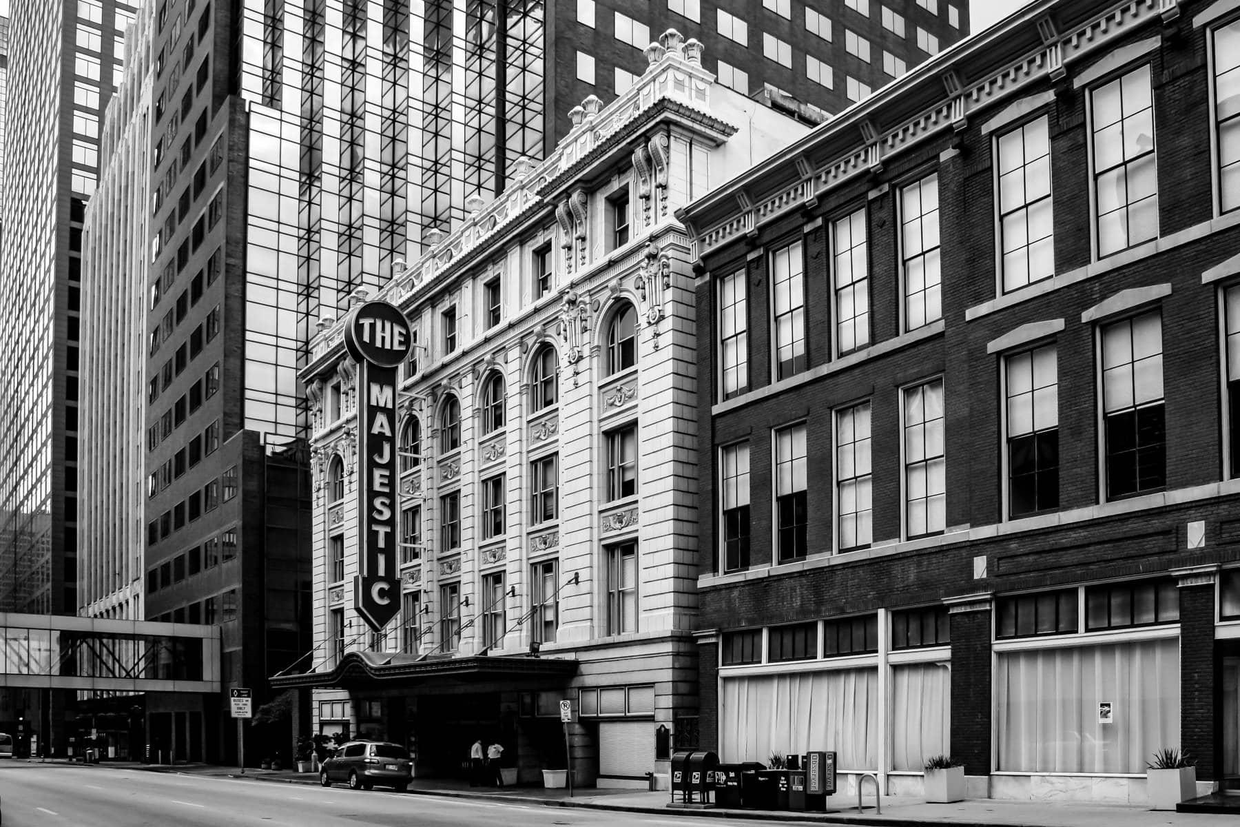 The Majestic Theatre in Downtown Dallas, Texas.