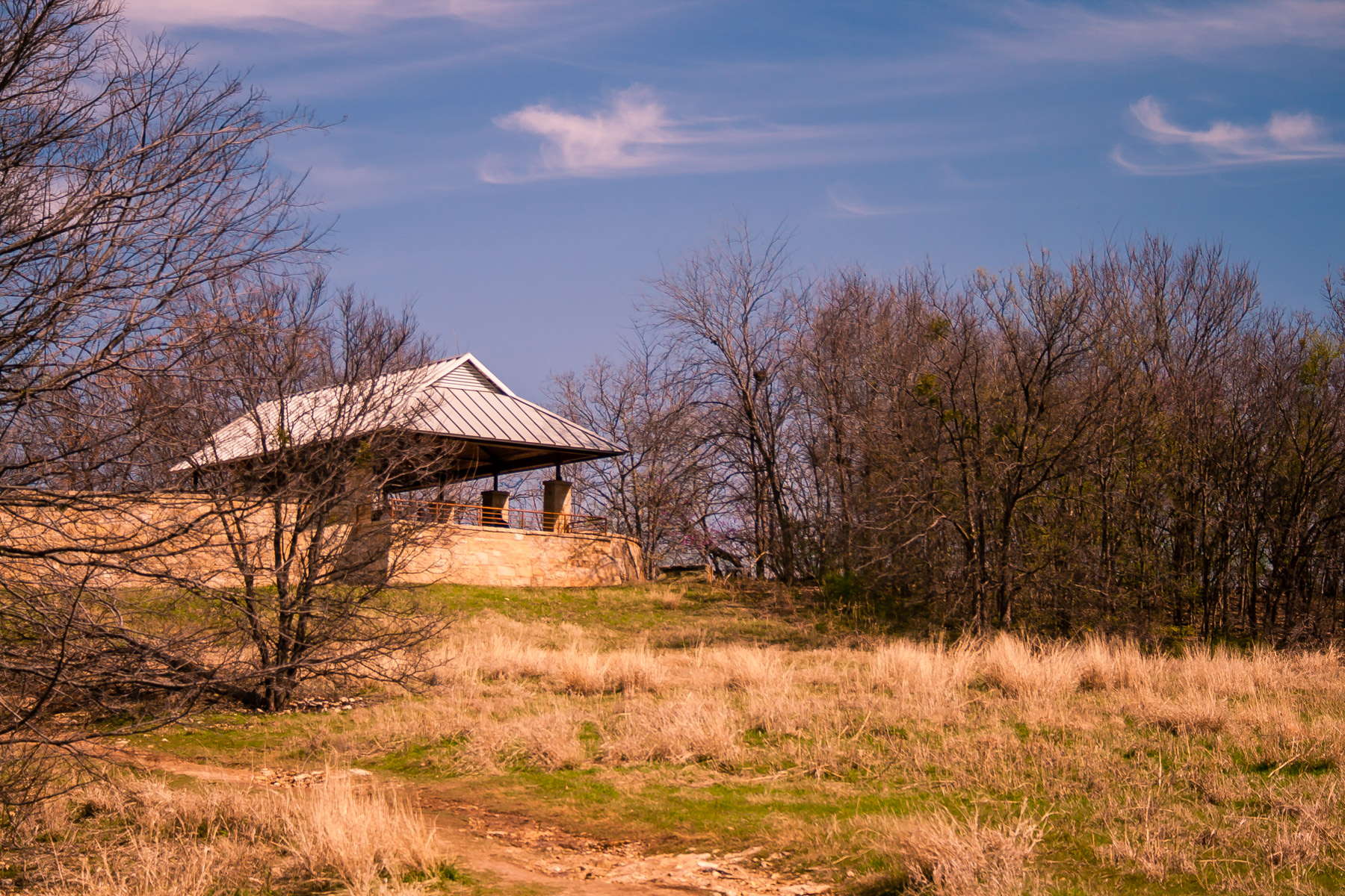 Arbor Hills Nature Preserve in Plano, Texas, on a cold Spring morning.