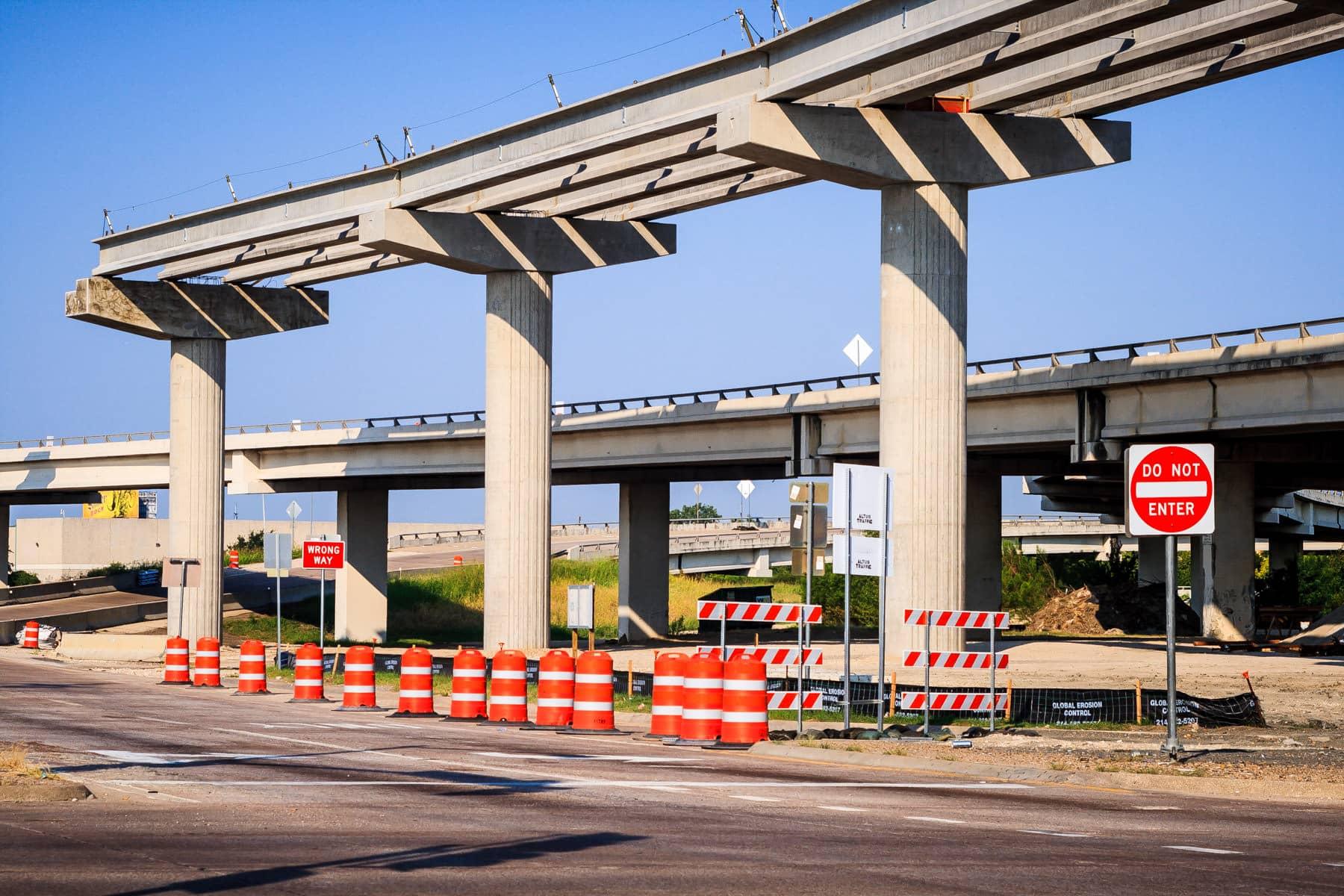 Road construction in Dallas.