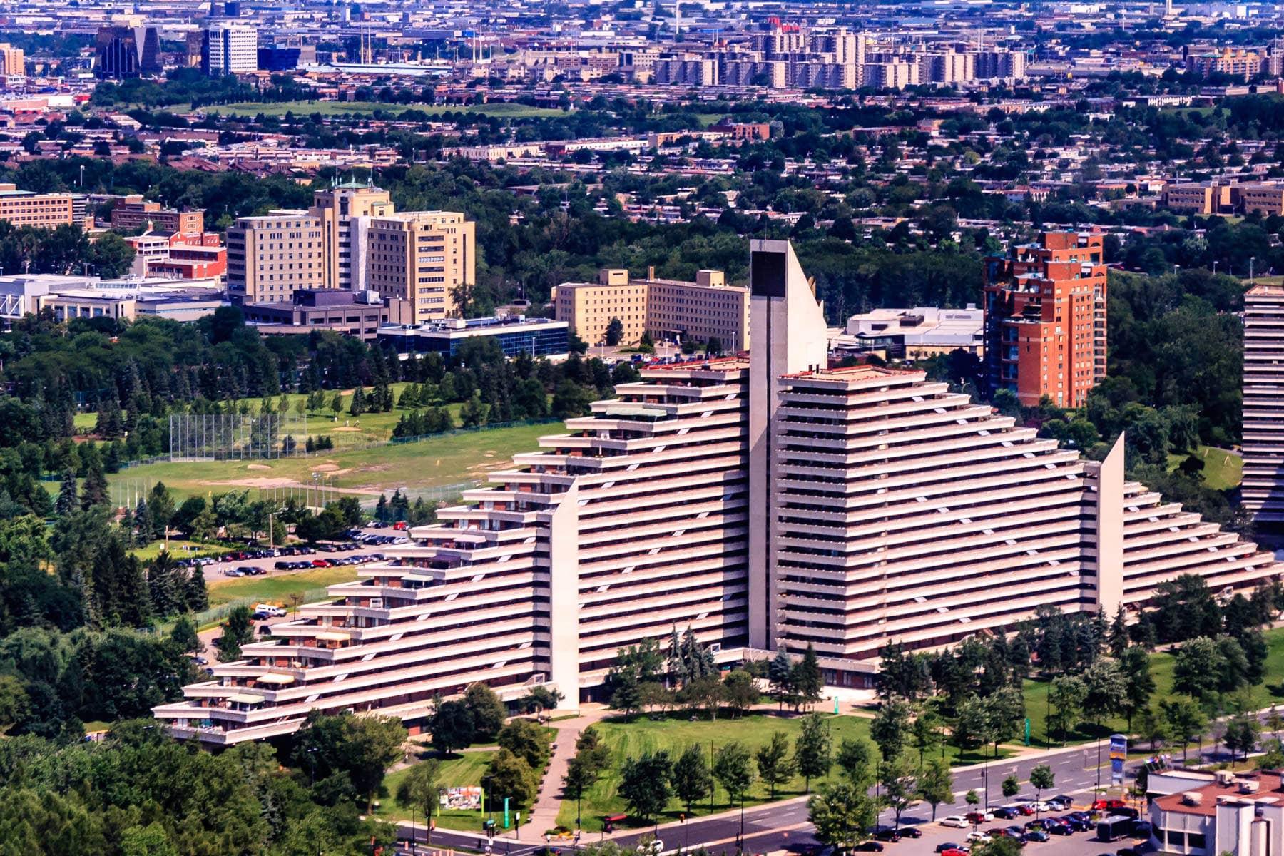 Montréal's Olympic Village, built for the 1976 olympics.