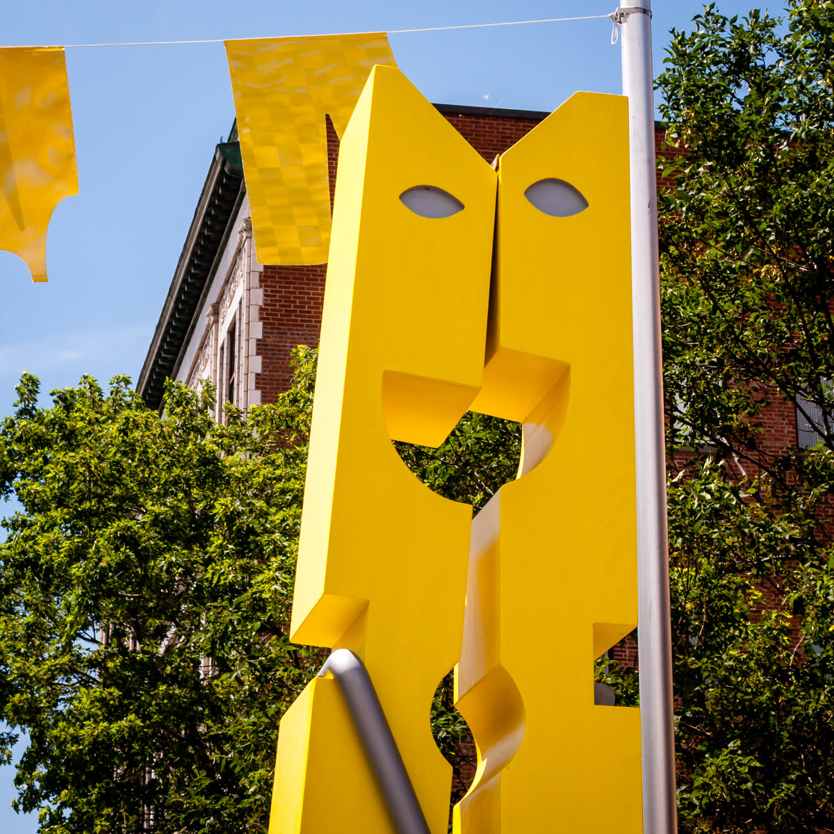A sculpture on Rue Ste-Catherine in The Village, Montréal's Gay district.