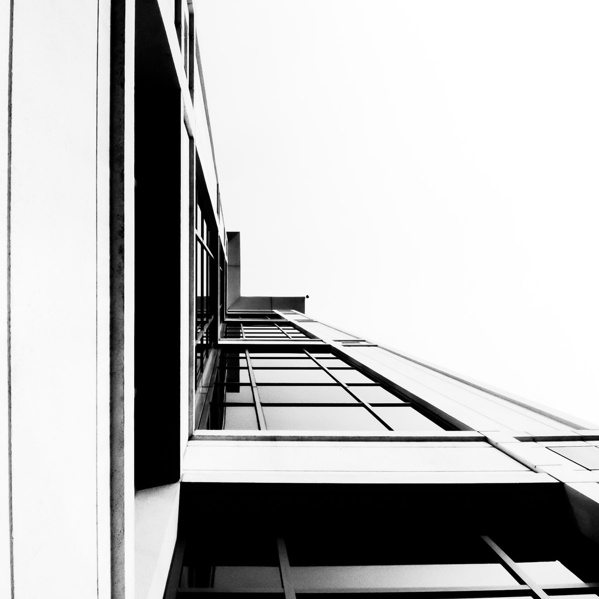 The edge of the Sterling Commerce Building in Las Colinas, Irving, Texas.