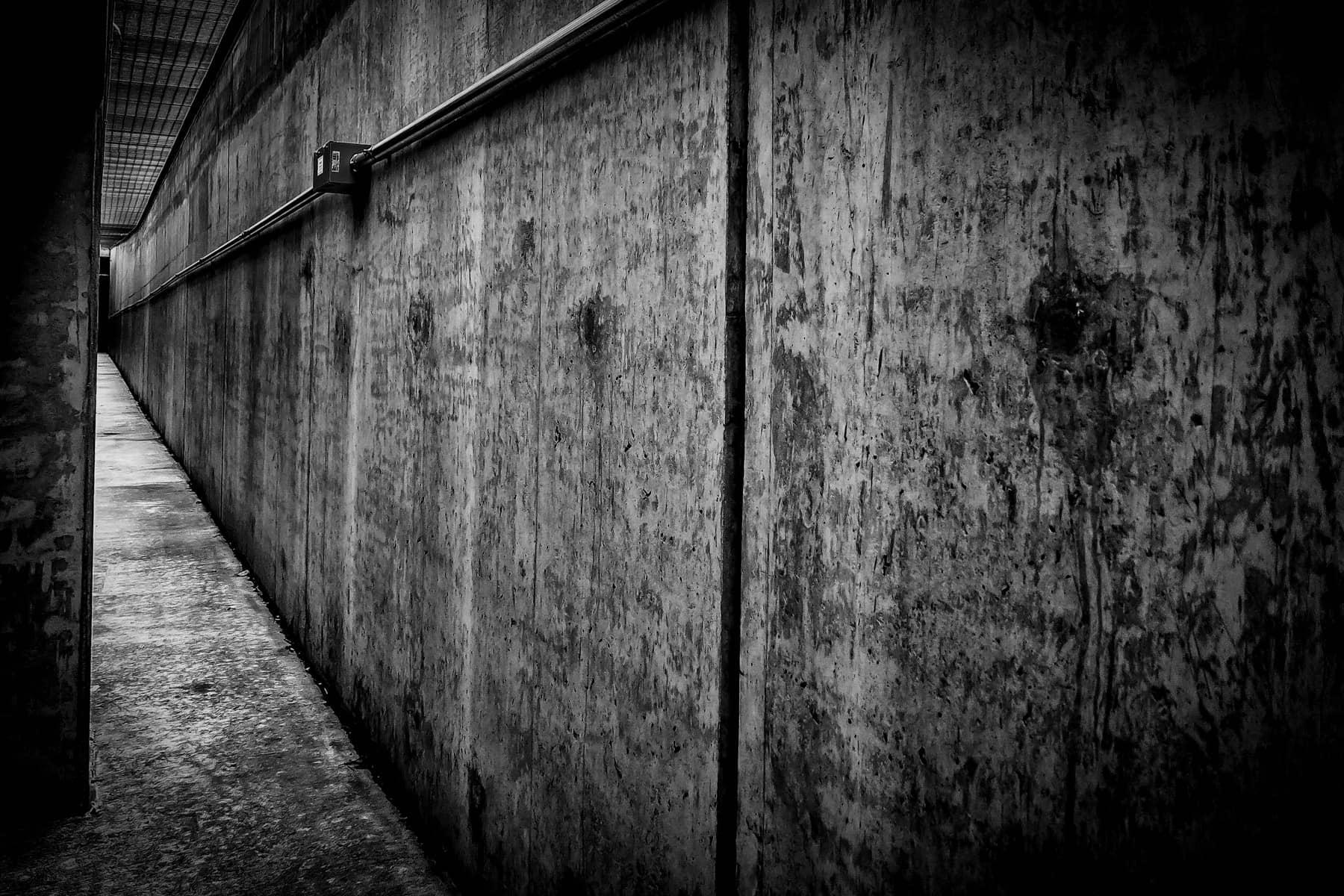 parking garage corridor