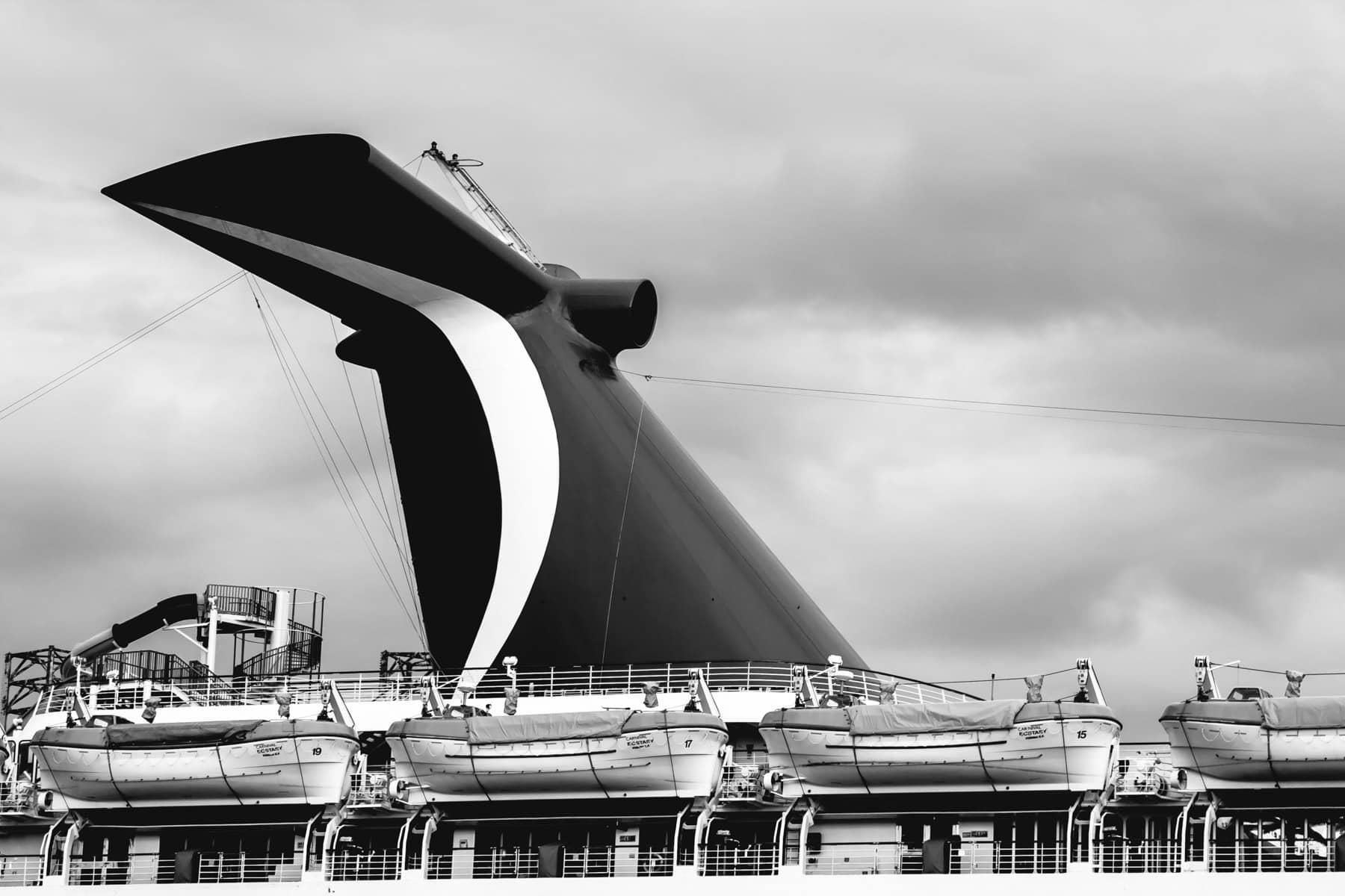 The cruise ship Carnival Ecstasy at the Port of Galveston, Texas.