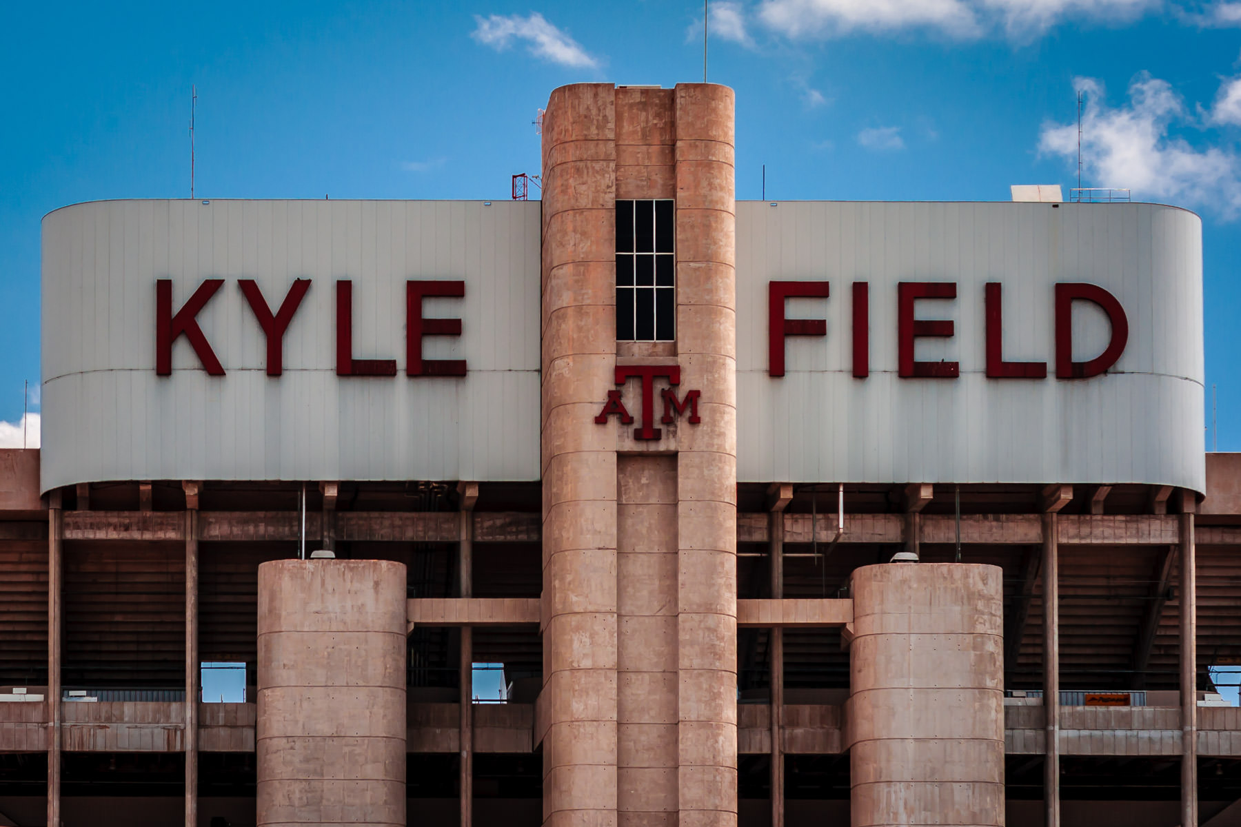 Exterior detail of Kyle Field—Texas A&M University's football stadium—before its 2013-2015 renovation.