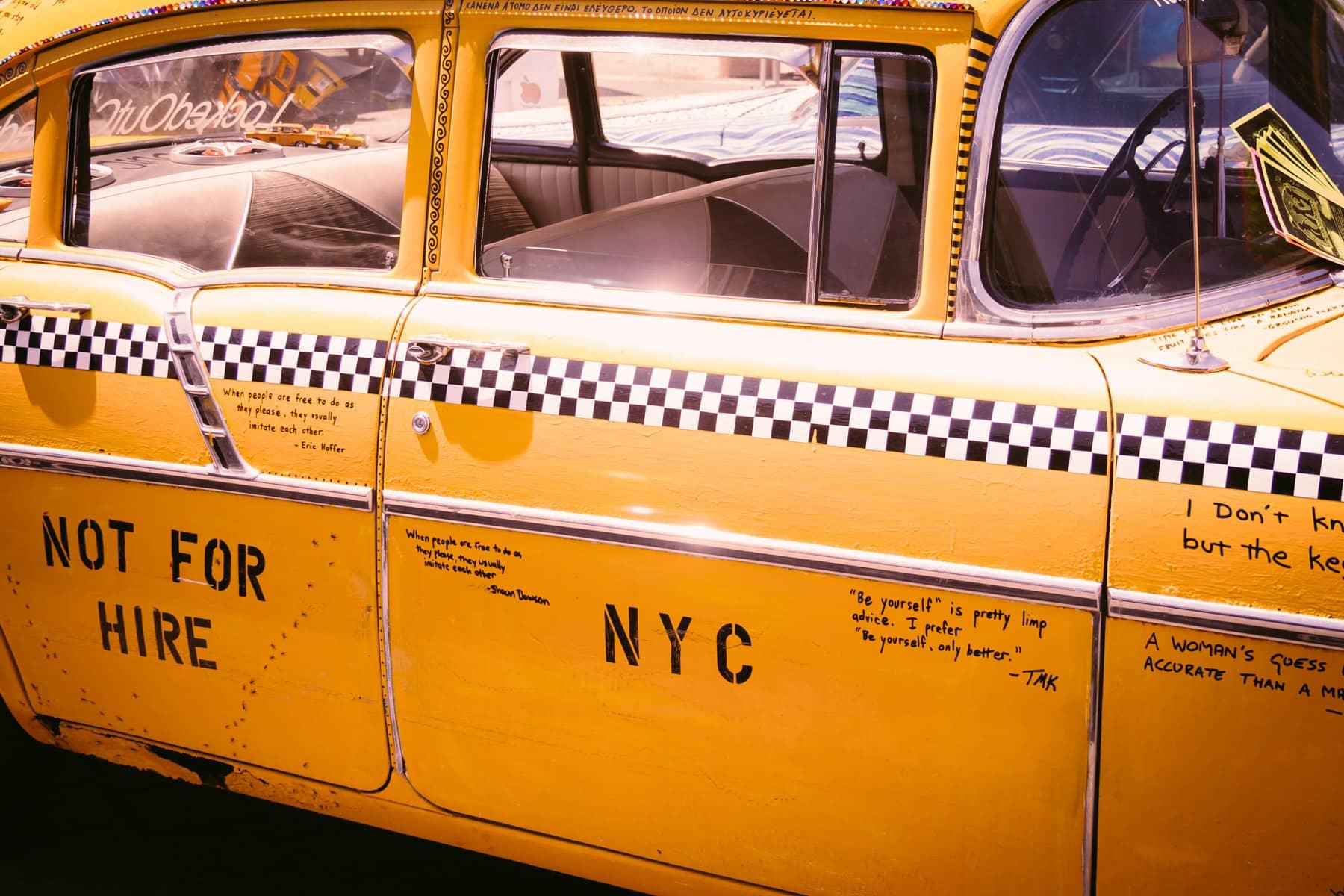 A Checker Cab at the Dallas City Arts Festival.