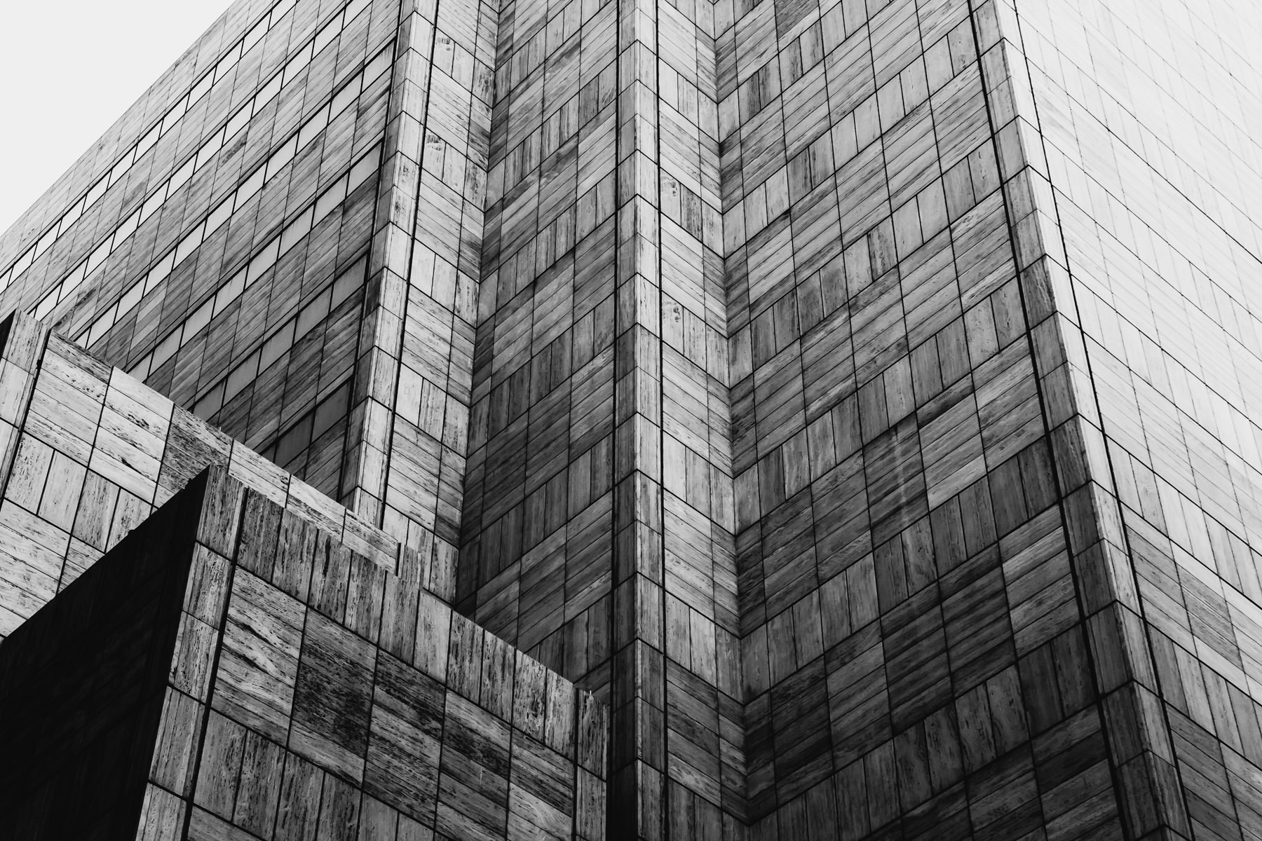 Exterior detail of AT&T's world headquarters, Downtown Dallas.