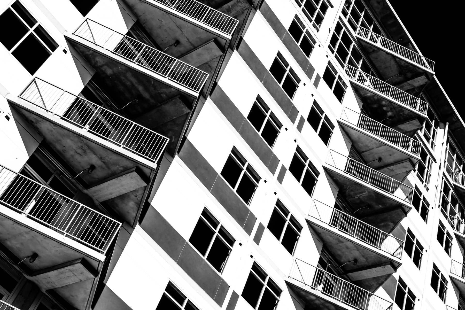 An apartment building in The Cedars, Dallas, Texas.
