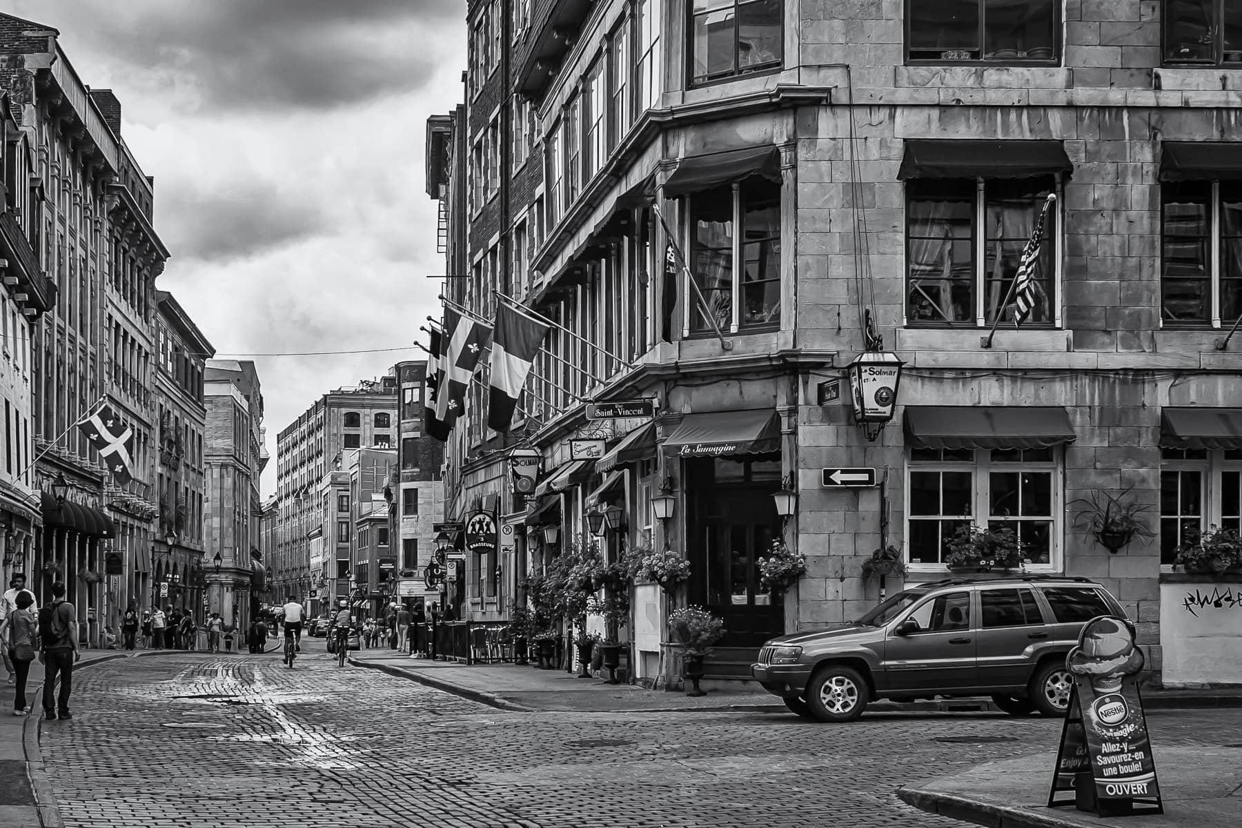 The European-esque streets of Old Montréal (Vieux-Montréal).