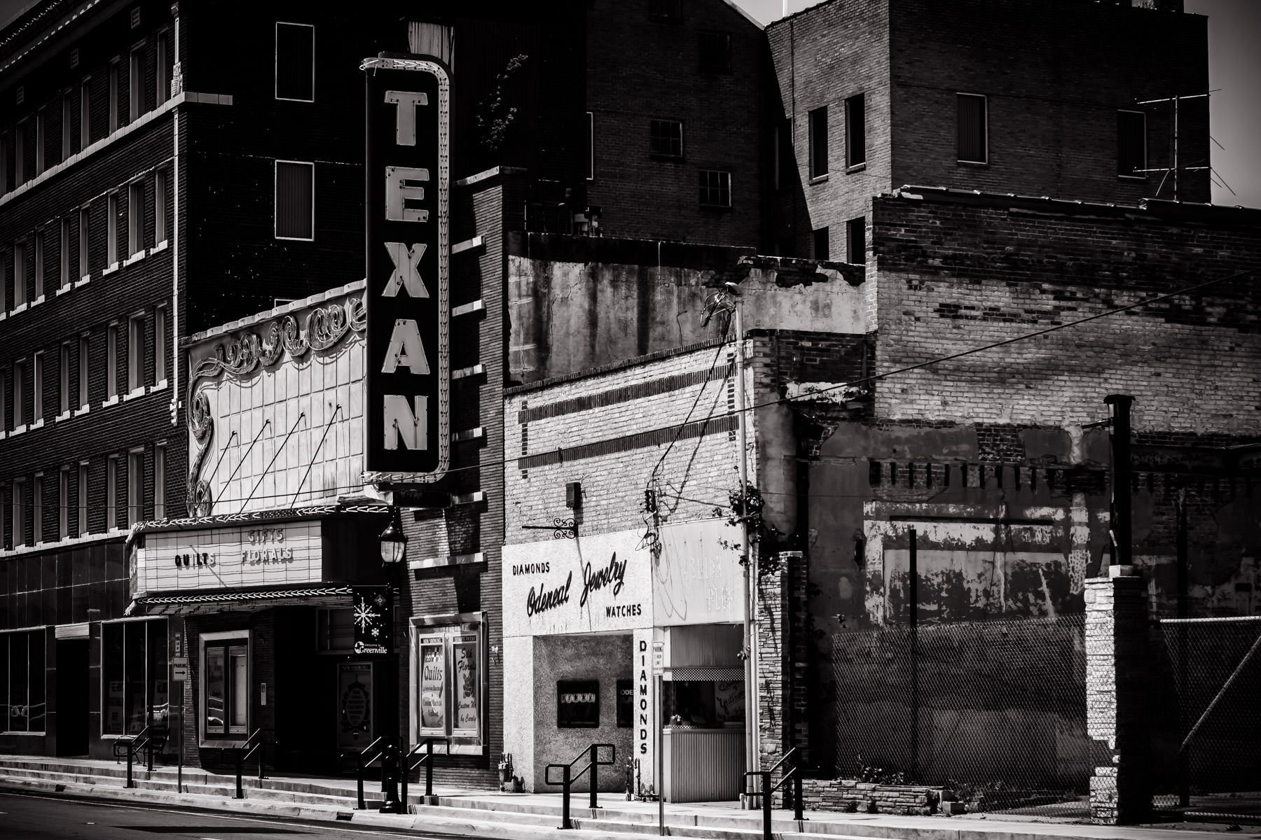 An old theatre in Downtown Greenville, Texas.