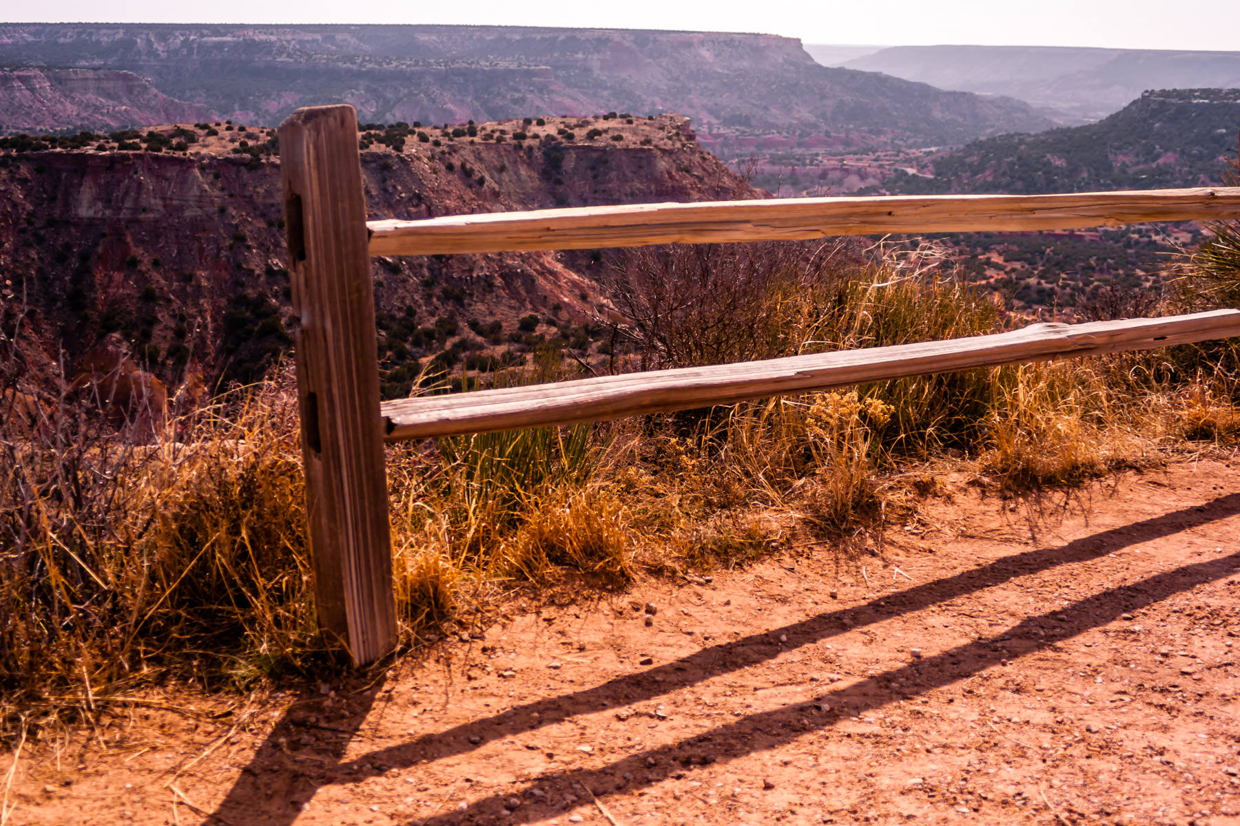 A fence at Palo Duro Canyon State Park, Texas.