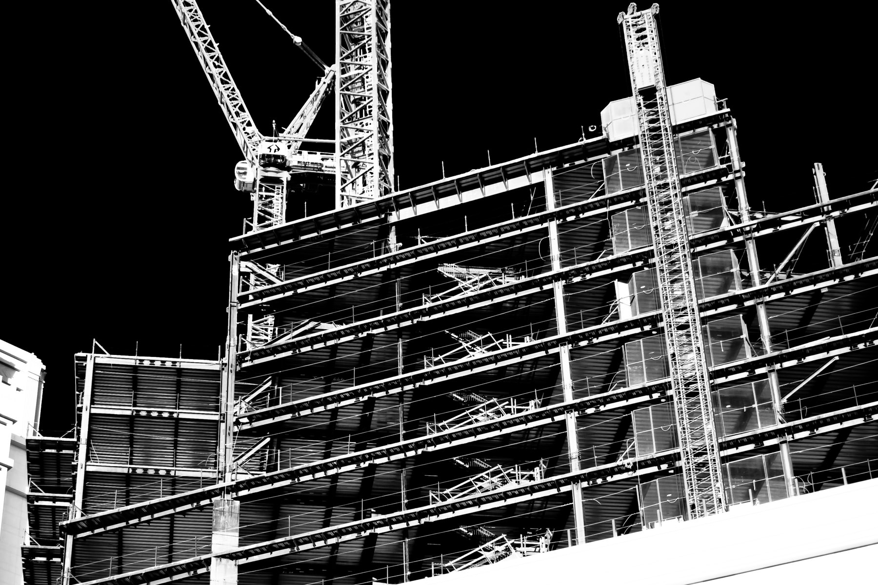 The construction site of the never-completed St. Regis Residences at The Venetian, Las Vegas.
