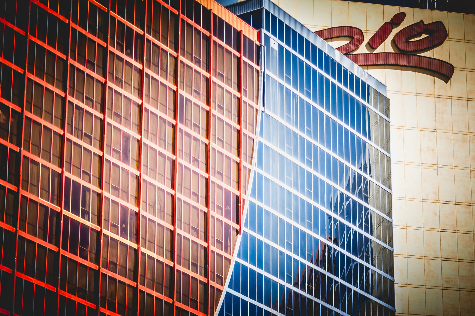 Exterior detail of the Rio All-Suite Hotel and Casino, Las Vegas.