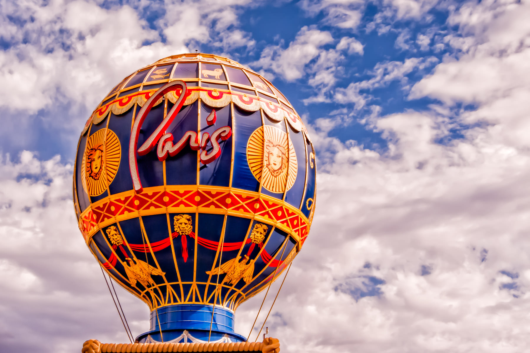 The balloon-shaped sign at Las Vegas' Paris Hotel and Casino.