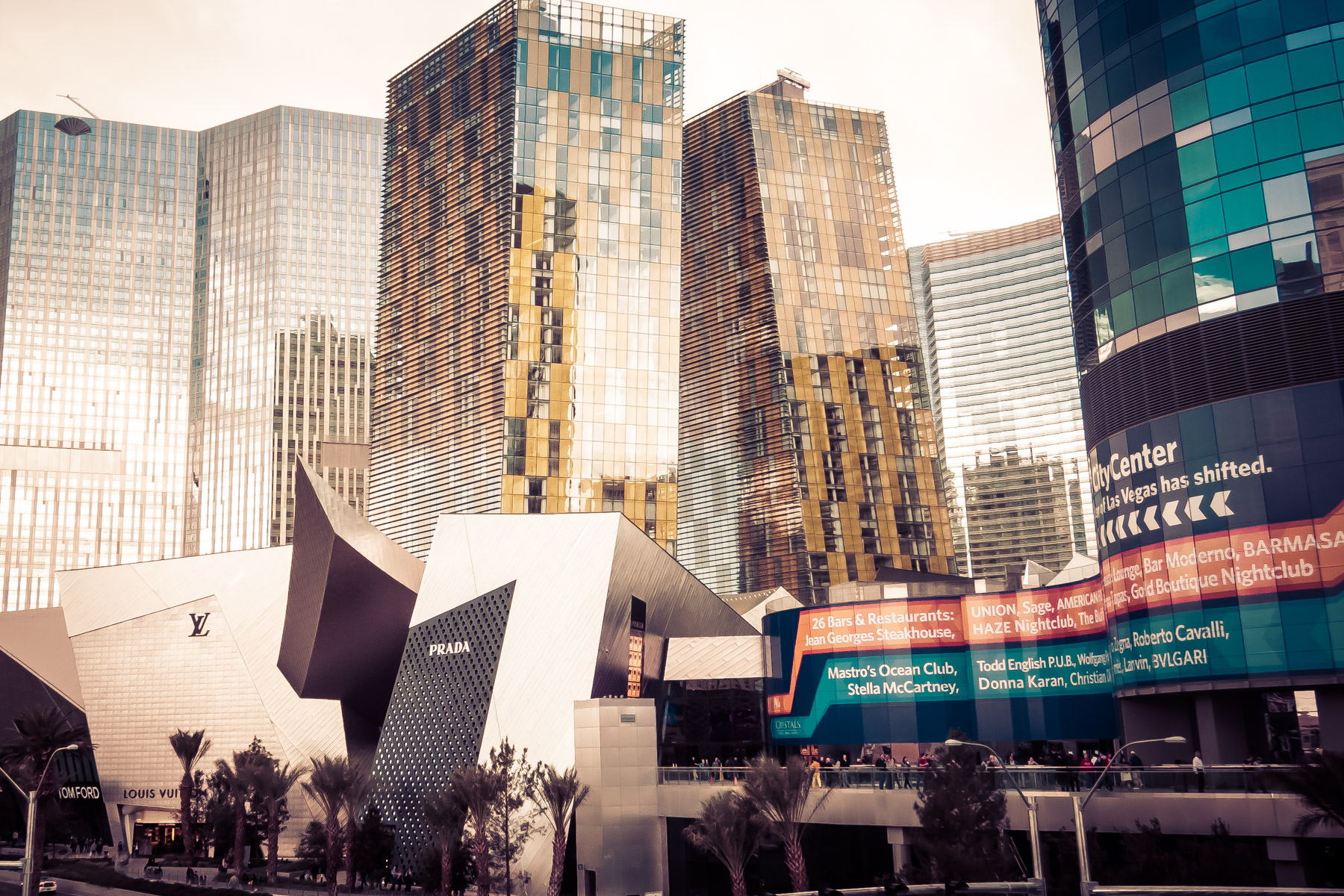 Las Vegas' CityCenter as seen from The Strip.