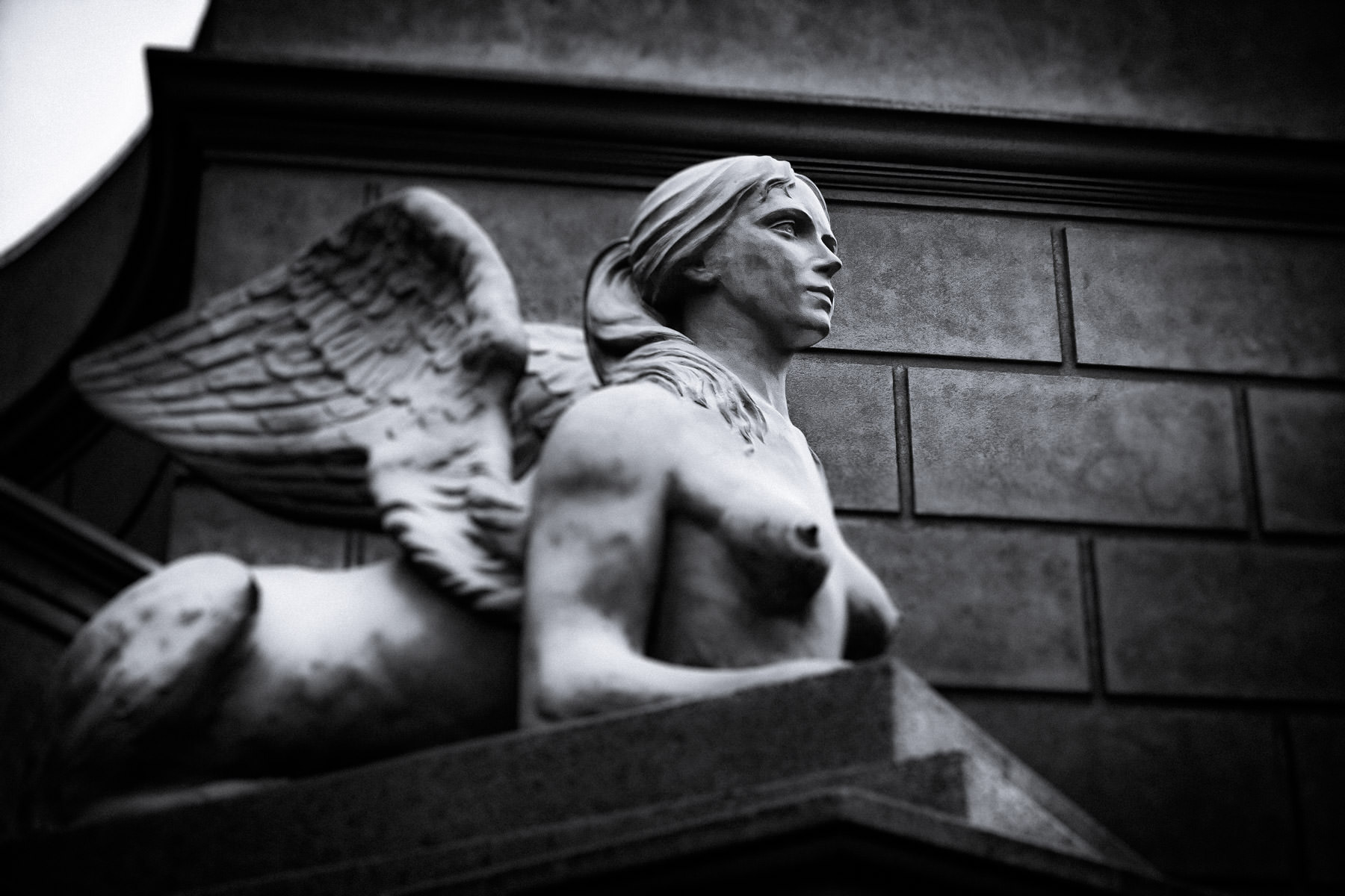 A statue of a sphinx at Caesars Palace, Las Vegas.