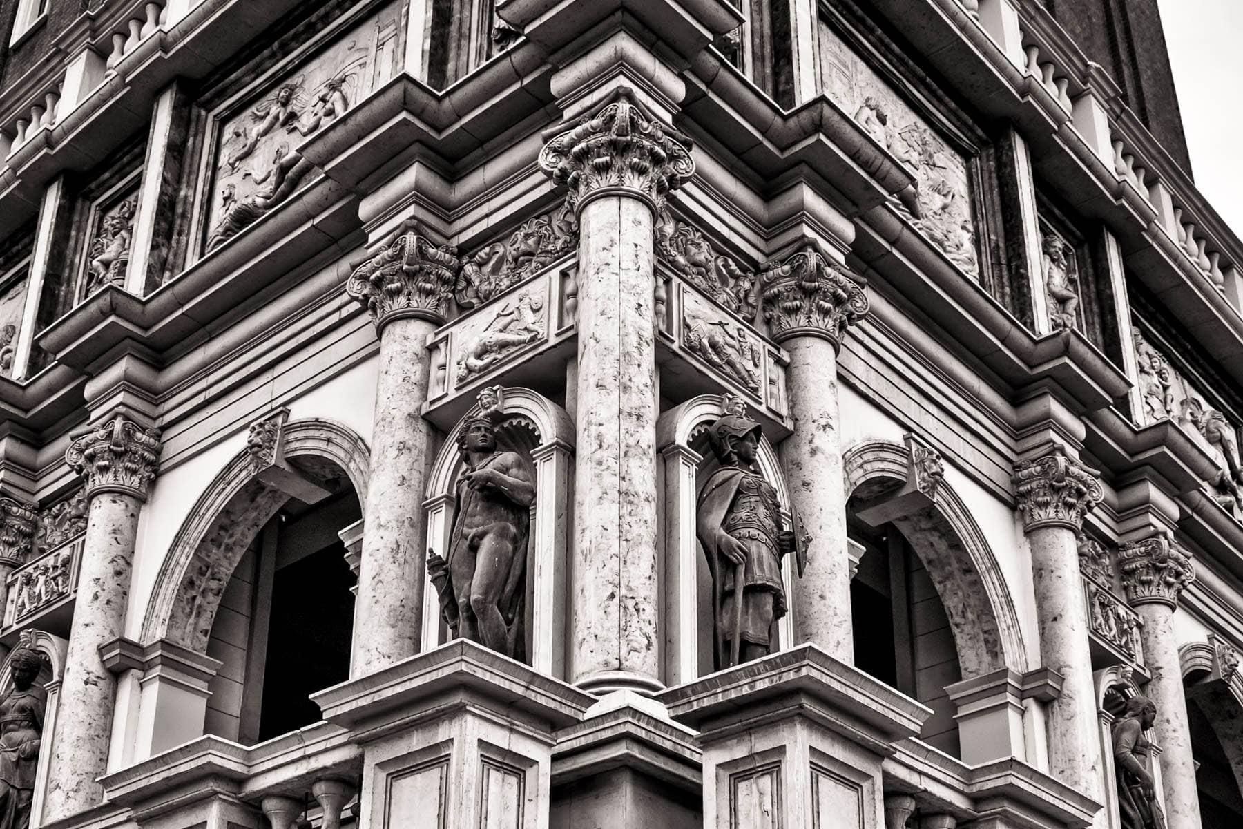 Architectural detail of The Venetian, Las Vegas.