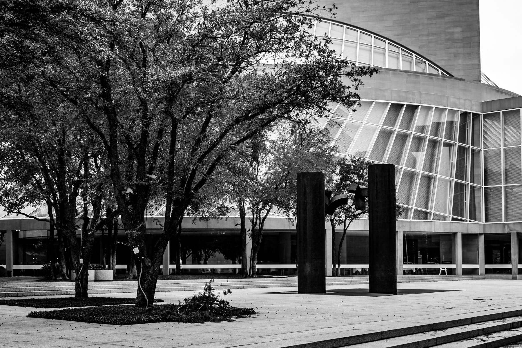 Dallas' Morton H. Meyerson Symphony Center, designed by I.M Pei and opened in 1989.