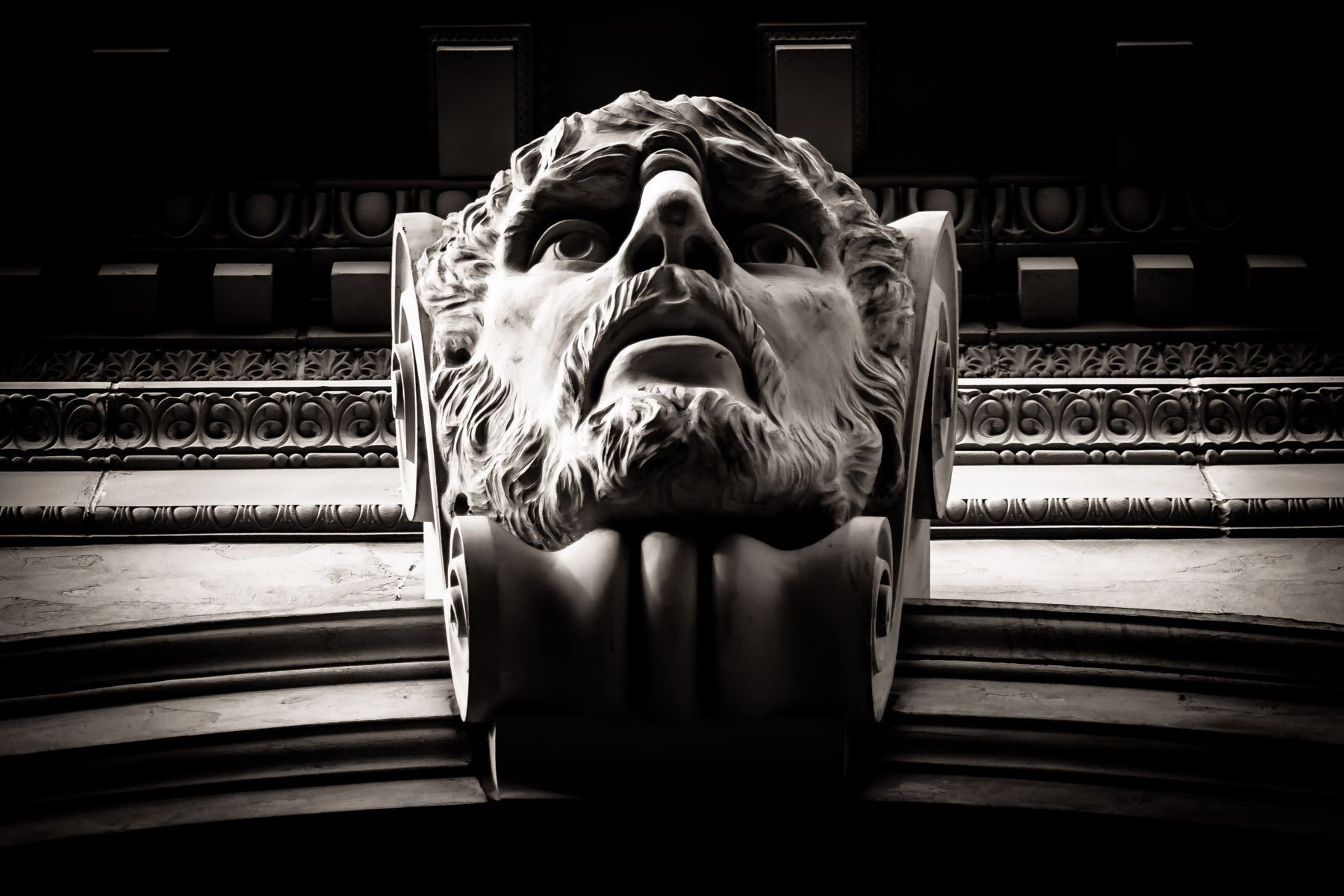Decorative architectural detail from Caesars Palace, Las Vegas.