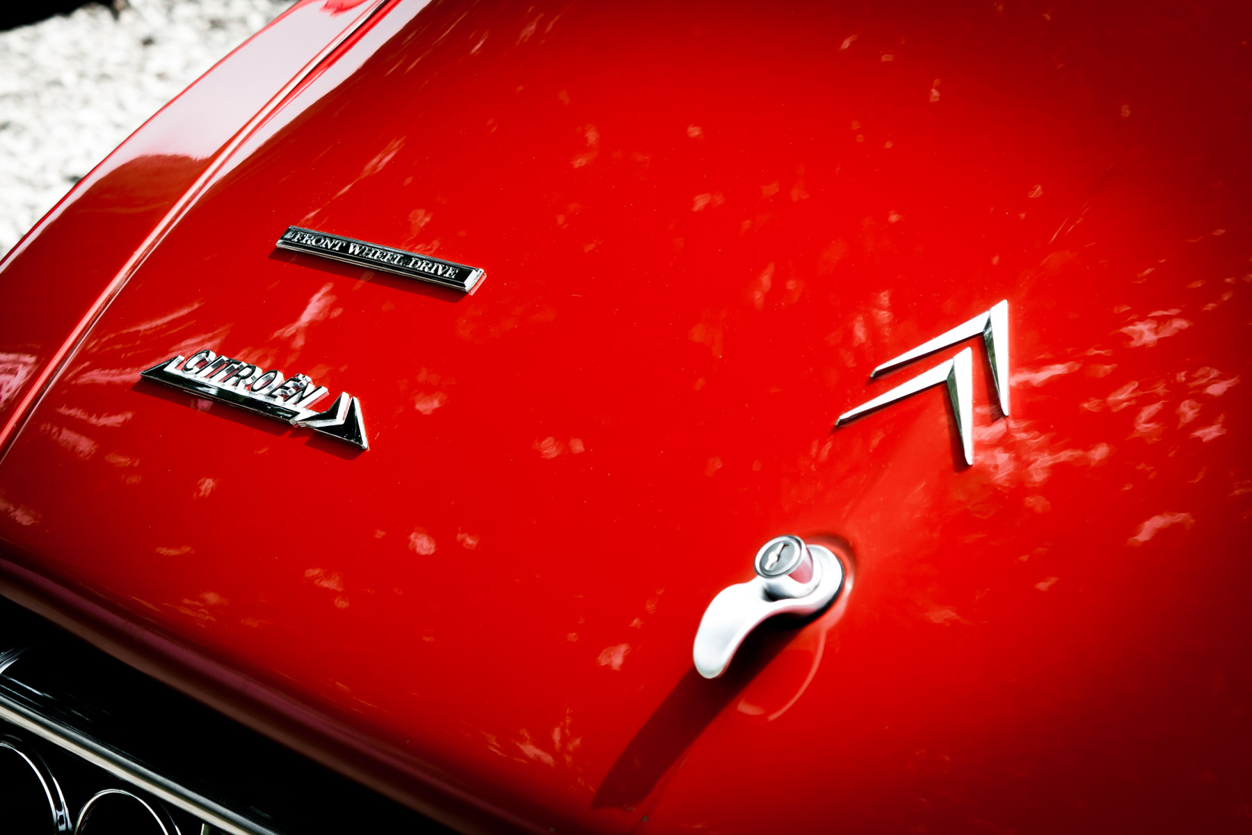 Detail of a classic Citroën spotted at All British and European Car Day, White Rock Lake, Dallas, Texas.