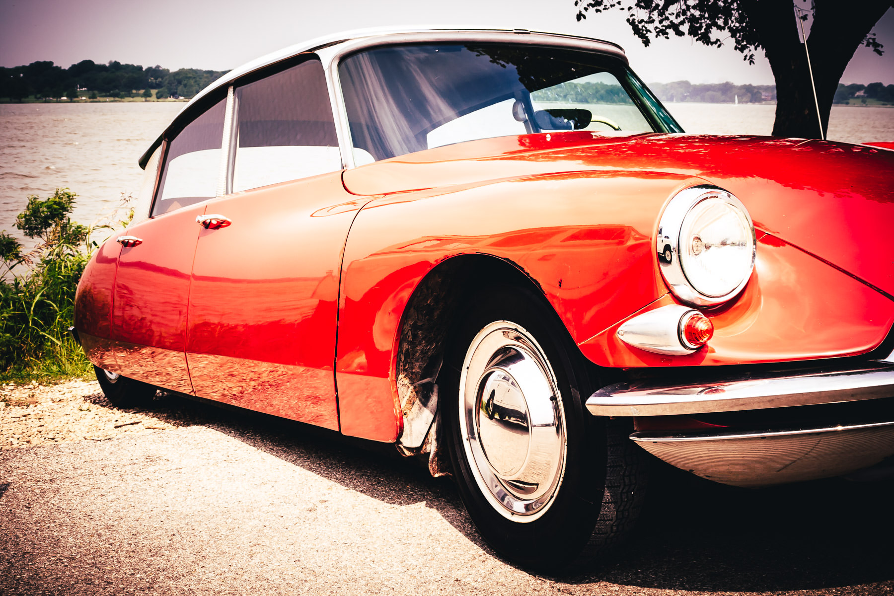 A Citroën DS at Dallas' All British and European Car Day.