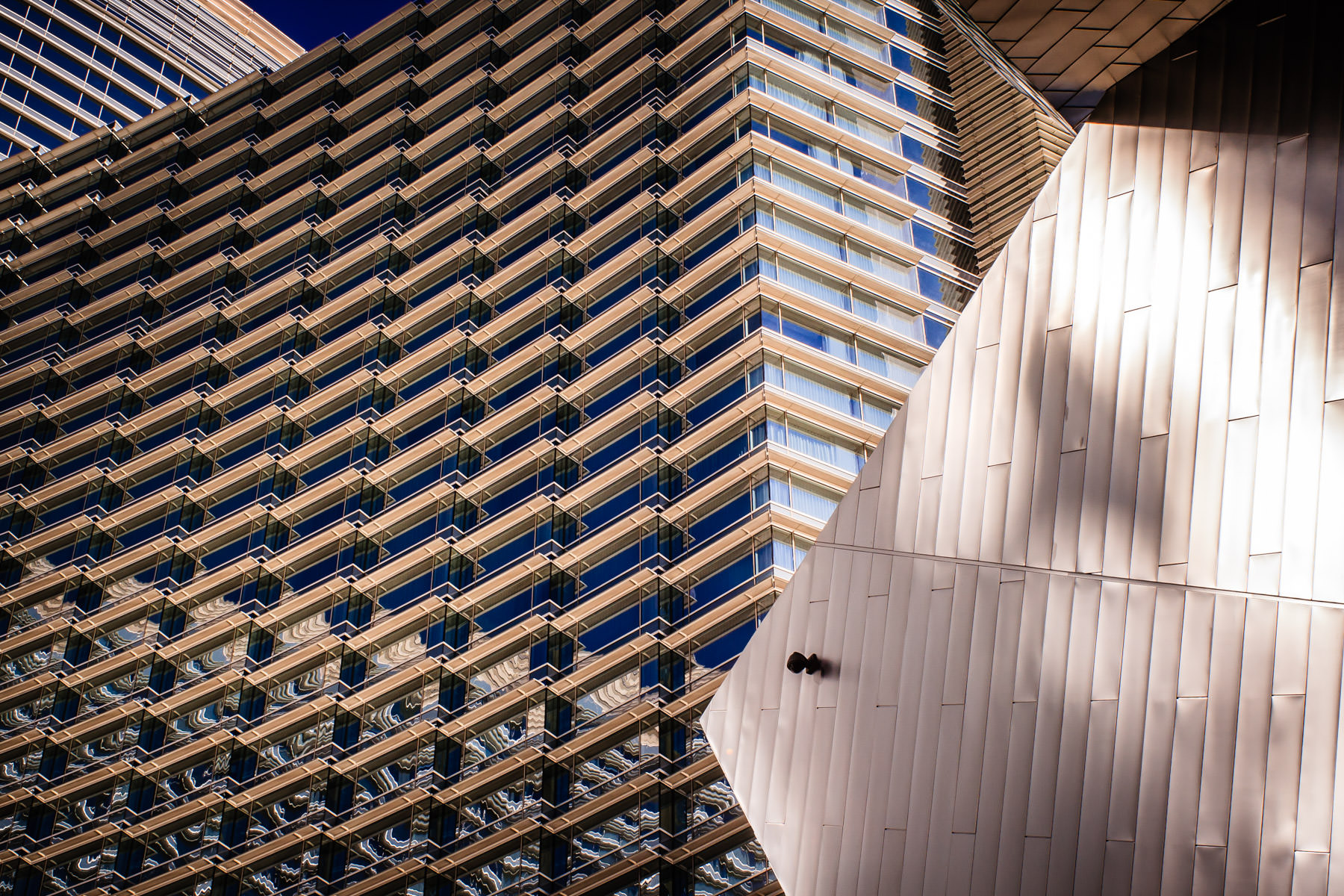 An abstraction of The Aria, CityCenter, Las Vegas.