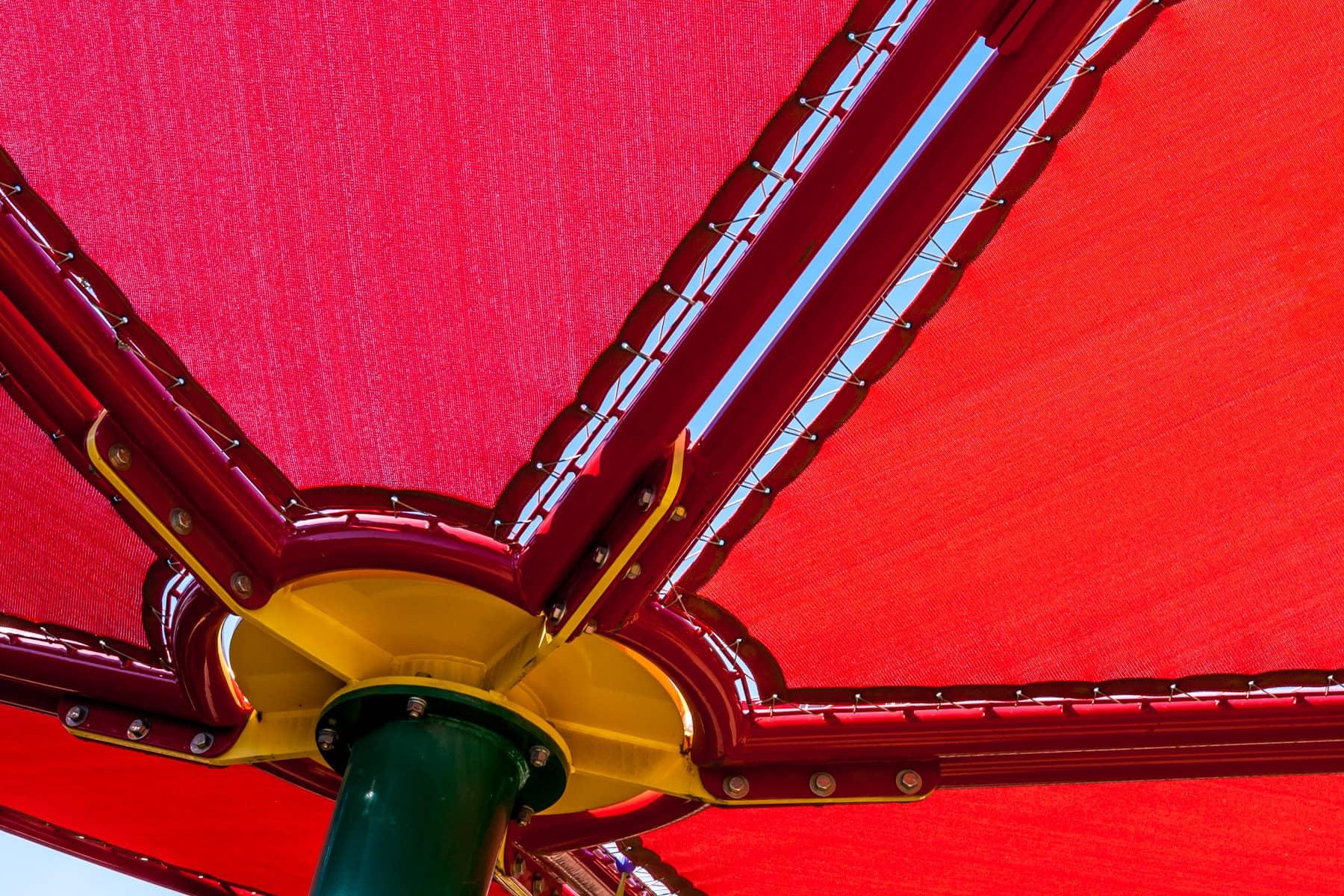 A colorful sunshade at the Dallas Zoo, Dallas, Texas.