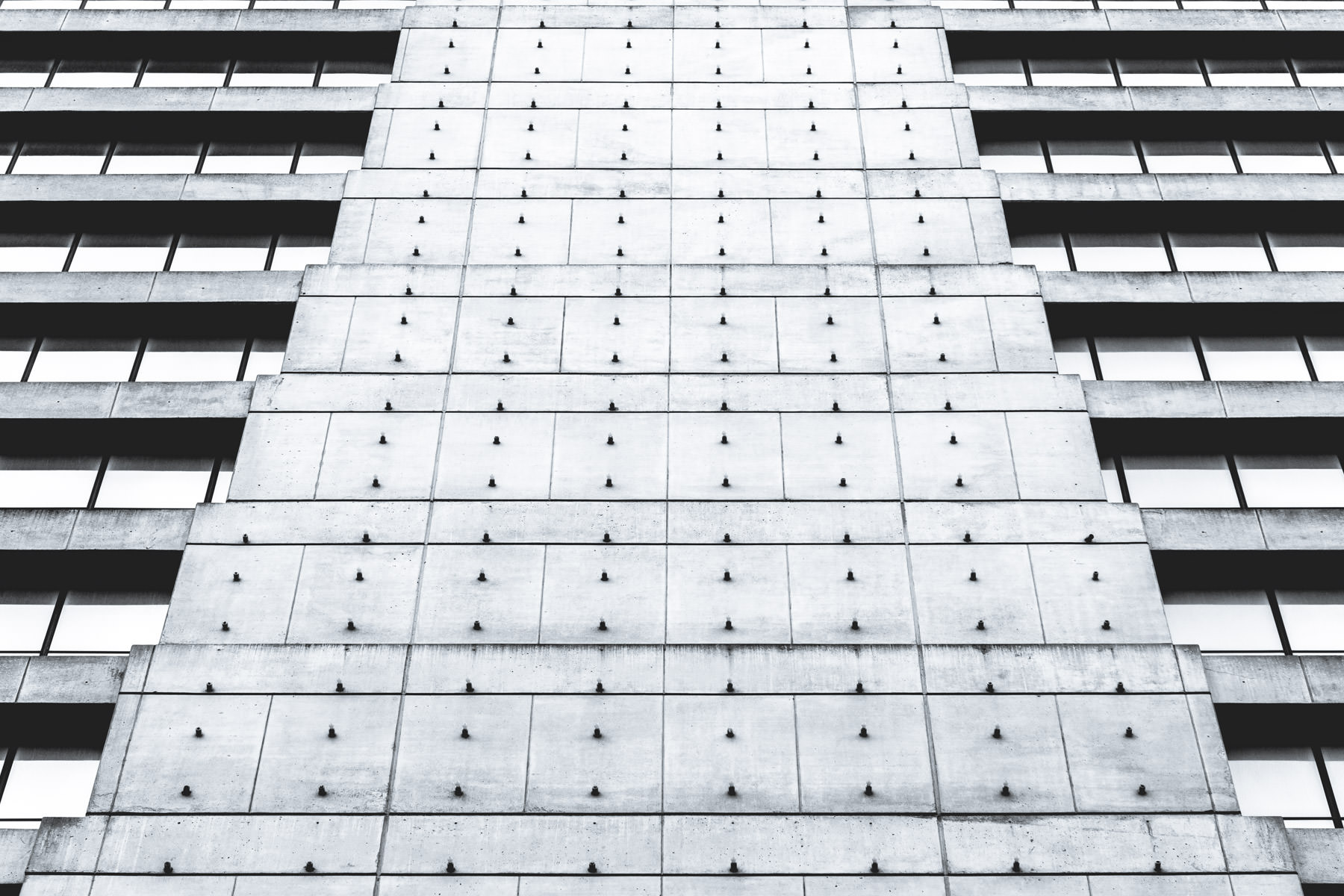Abstract exterior architectural detail of a high rise building  in Downtown Fort Worth, Texas.