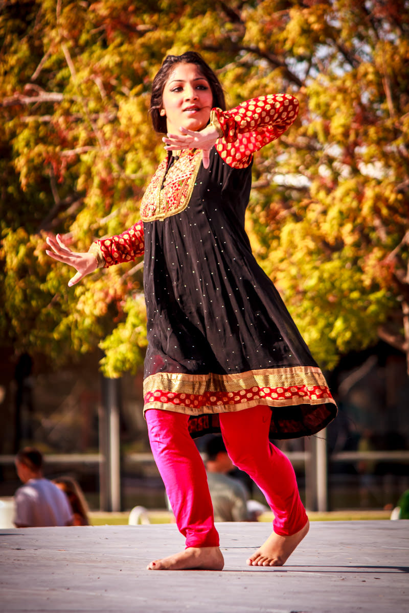 A dancer at WorldFest, Addison, Texas.