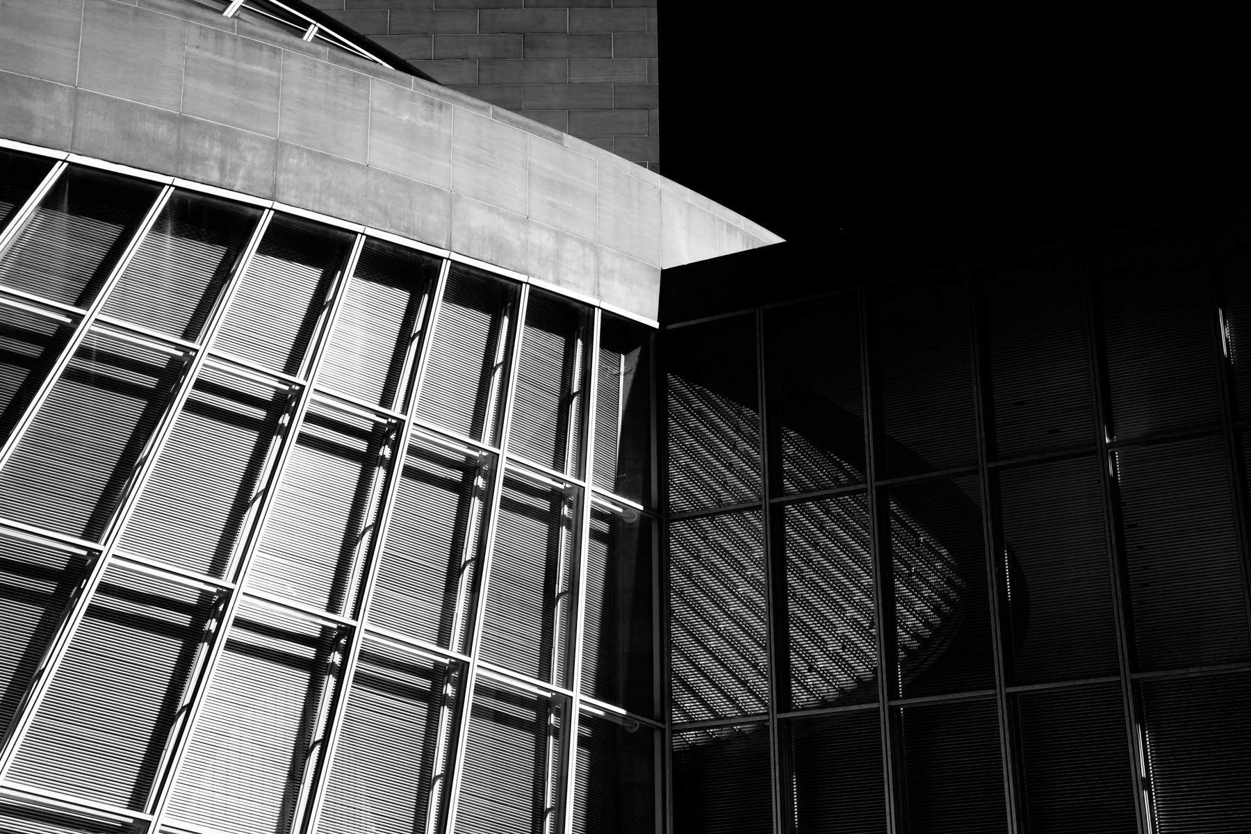 Detail of I.M. Pei's Morton H. Meyerson Symphony Center, Dallas.