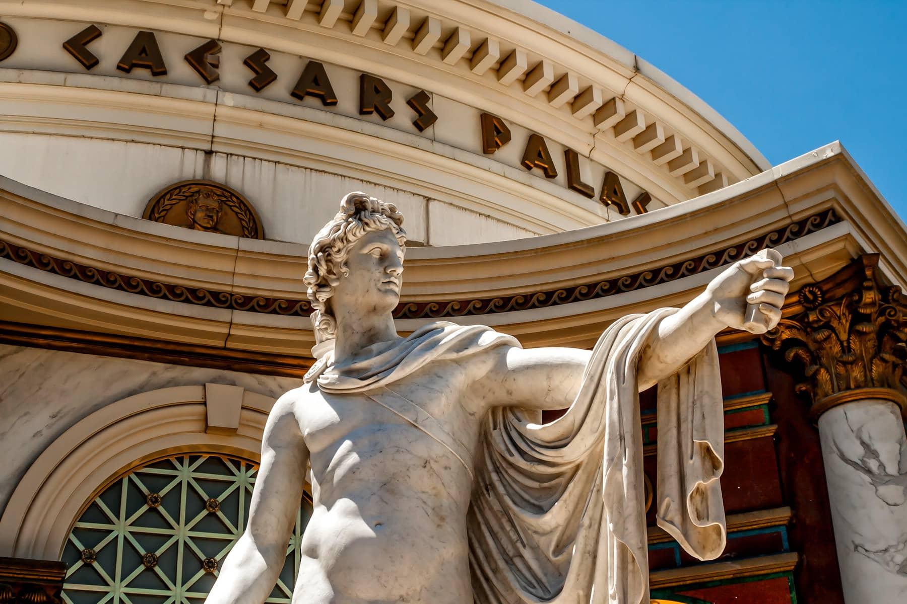 A statue at Caesars Palace, Las Vegas.