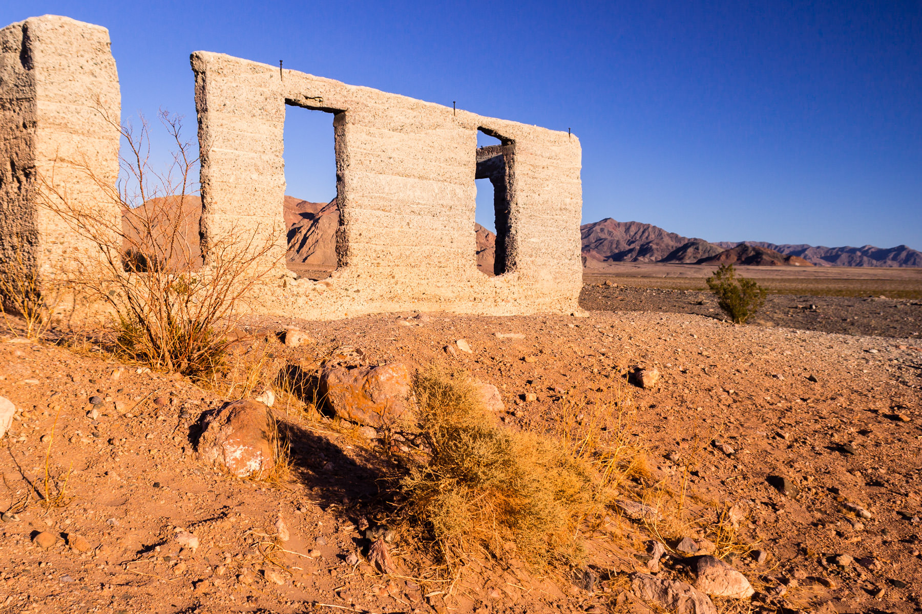 The Ashford Mill ruins, Death Valley National Park, California.