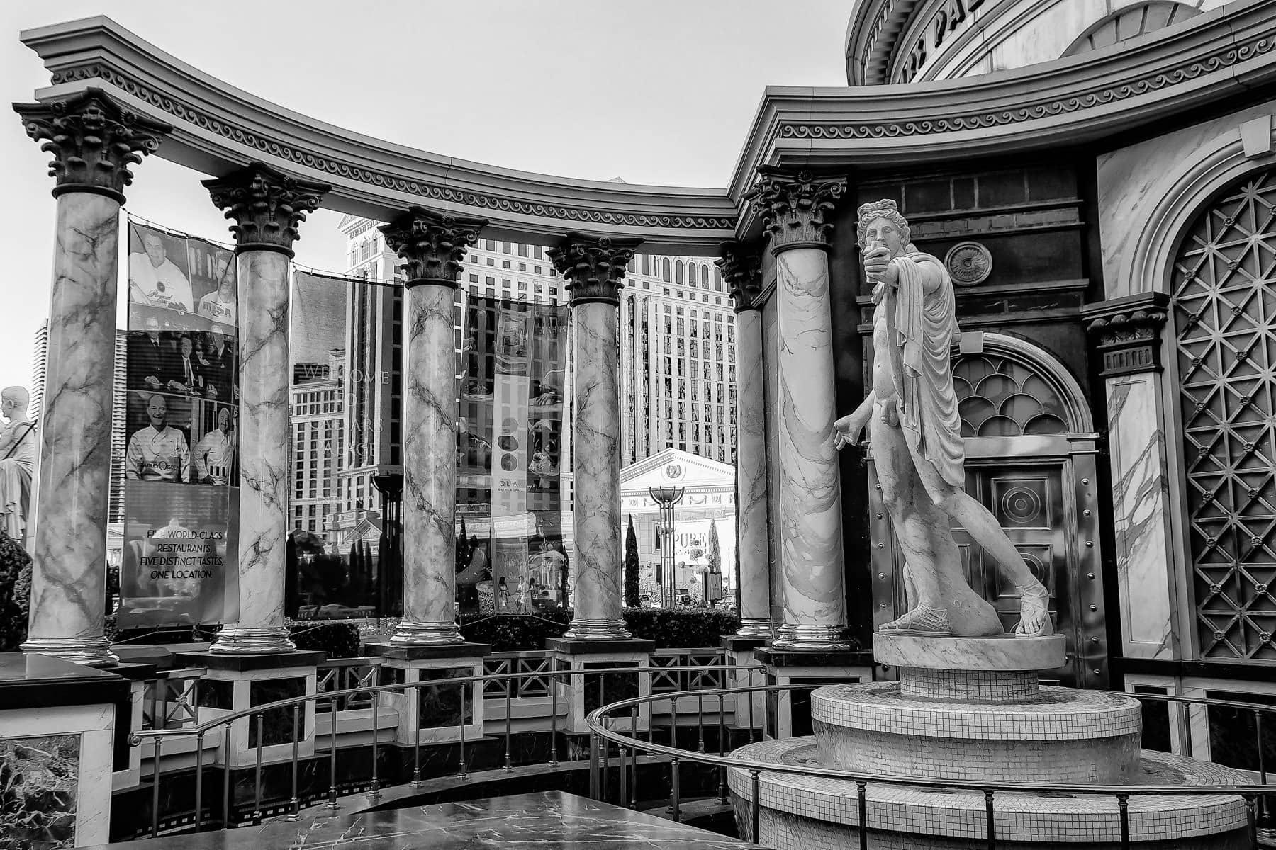 A statue outside of Caesars Palace, Las Vegas.