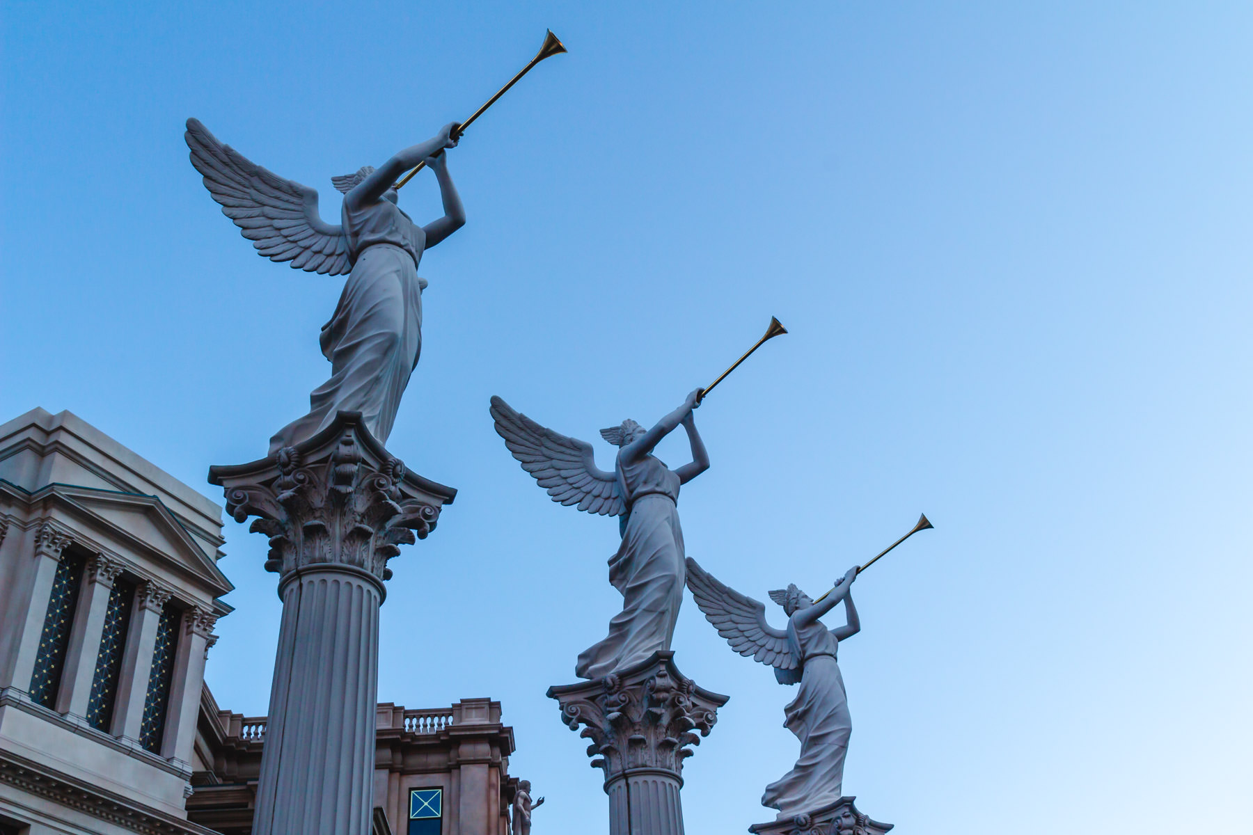 Statues at Caesars Palace, Las Vegas.