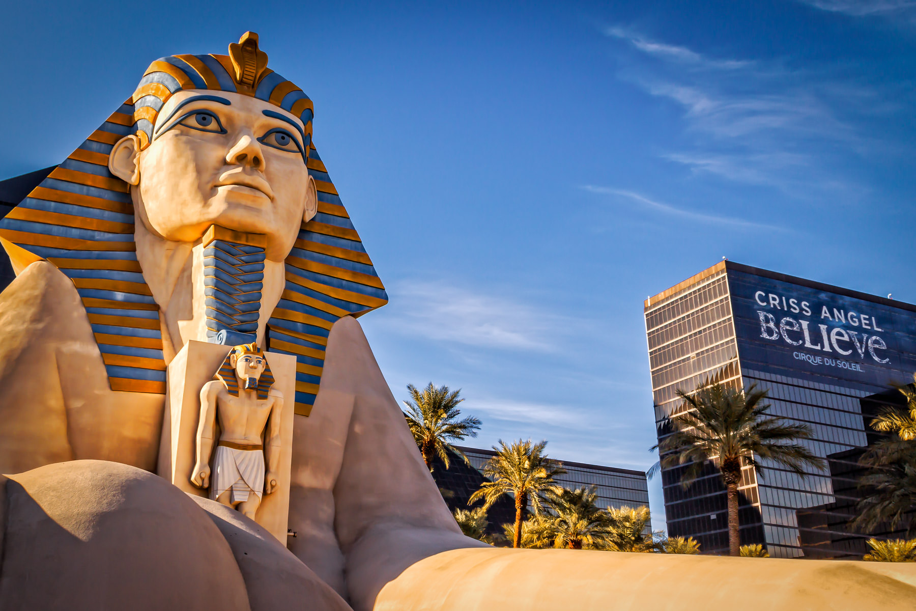 The sphinx at The Luxor, Las Vegas.
