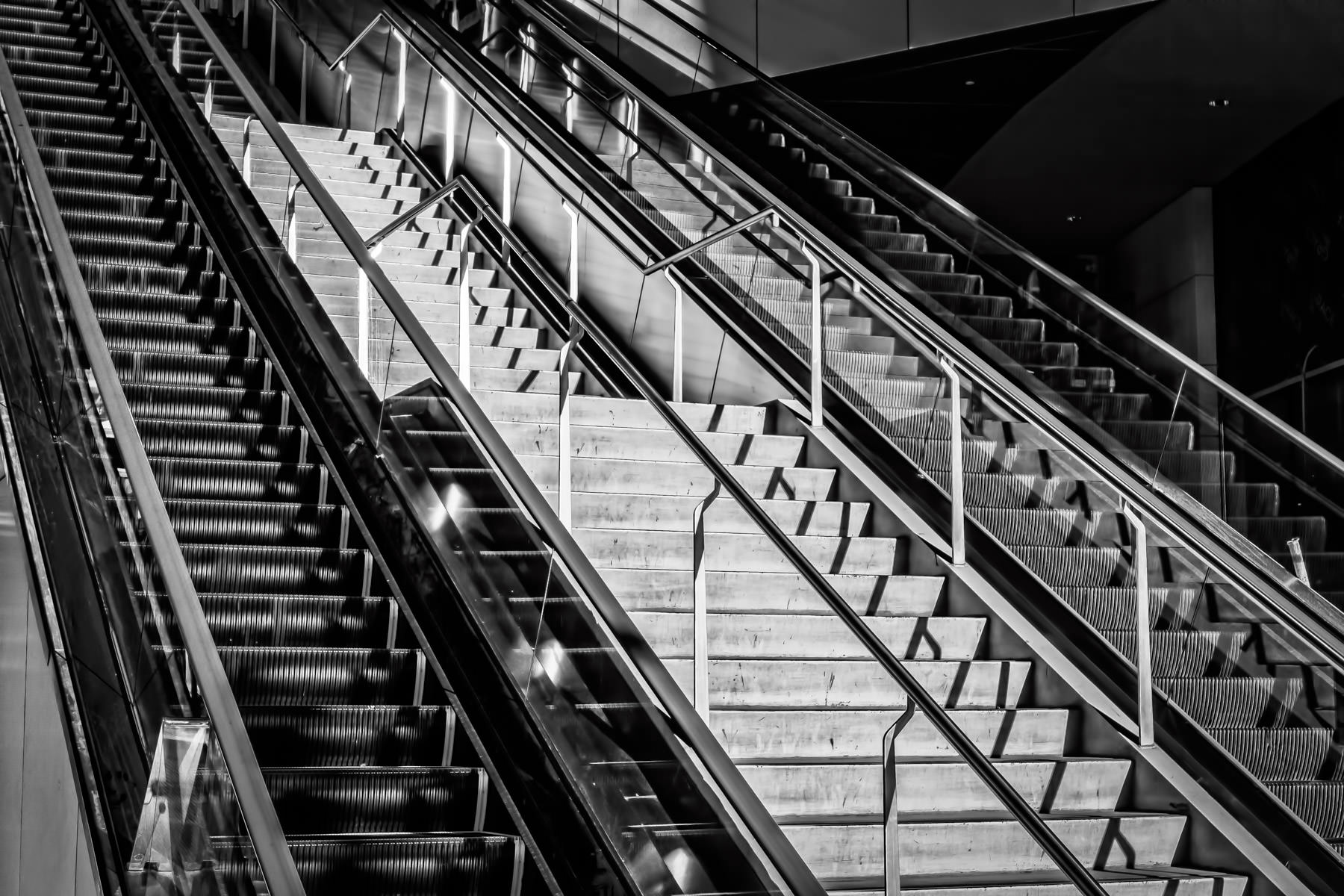Stairs and escalators spotted along The Strip, Las Vegas.