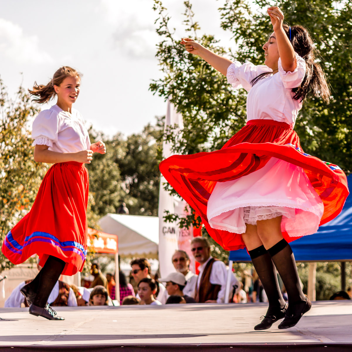 Dancers at Addison Worldfest, Addison, Texas.