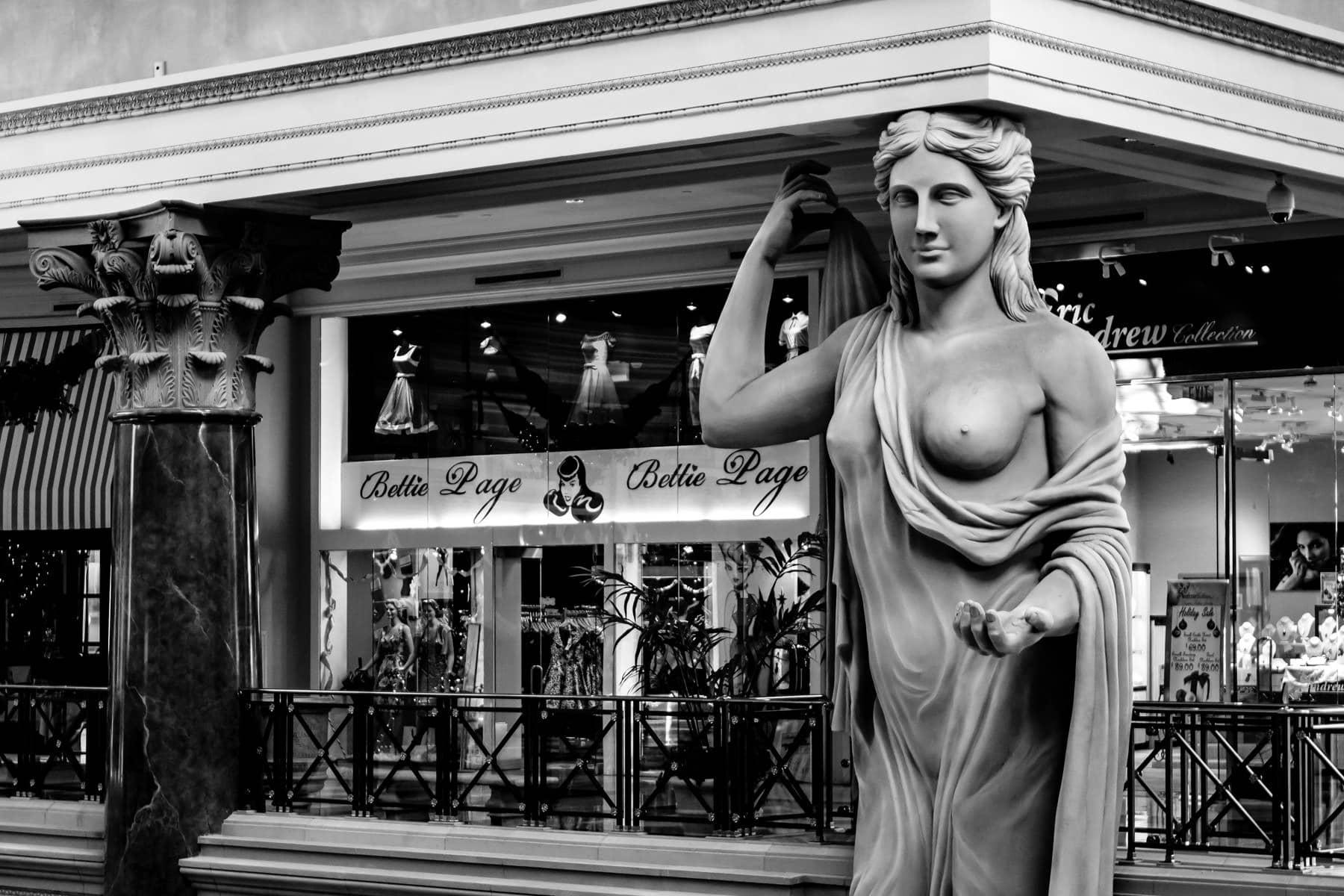 Interior statuary at the Forum Shops at Caesars Palace, Las Vegas.