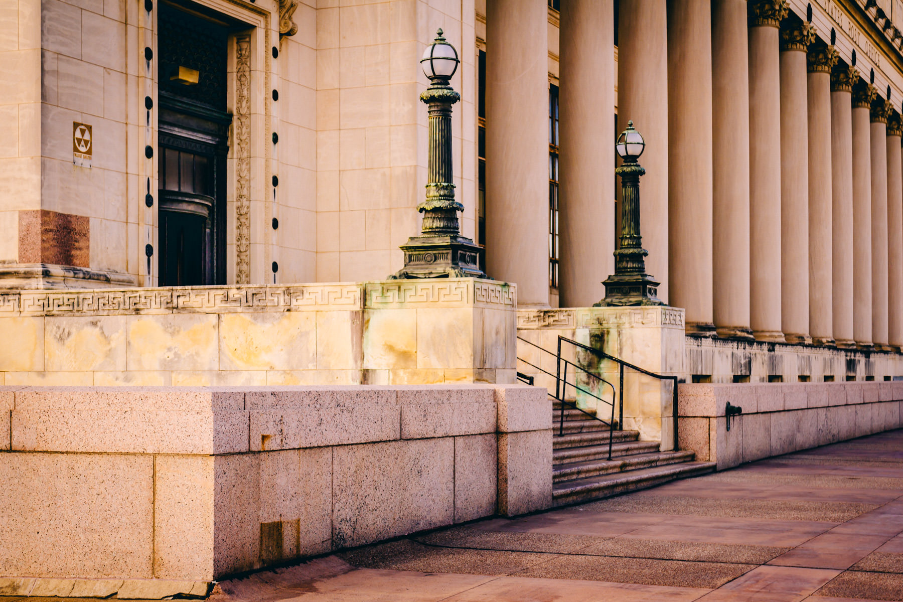 The neo-classical architecture of Fort Worth, Texas' main post office.