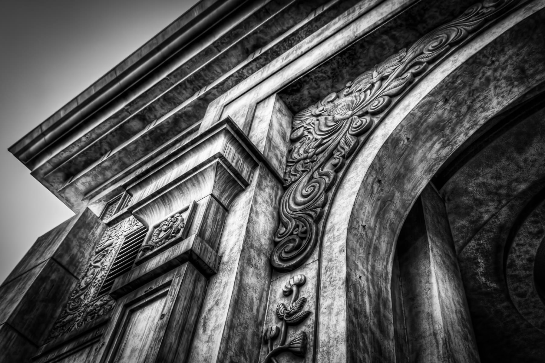 Detail of the arched entryway to Mandalay Bay, Las Vegas.