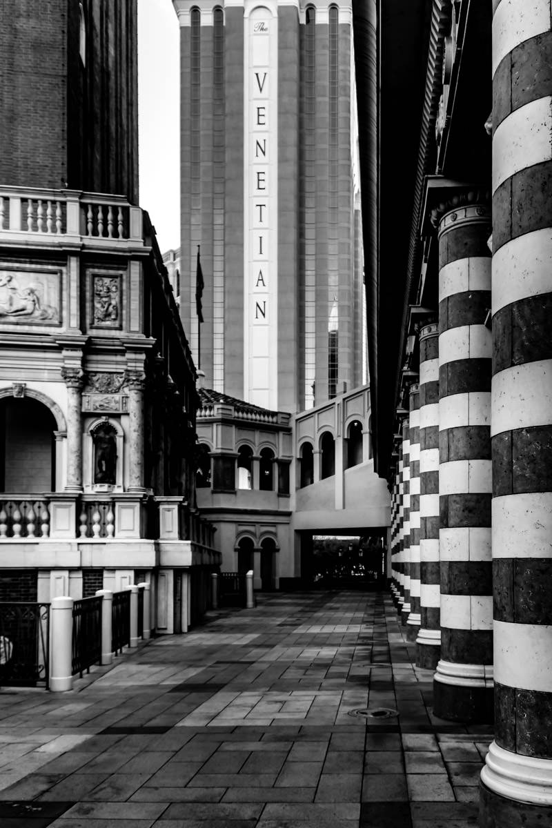 Exterior detail of The Venetian, Las Vegas.