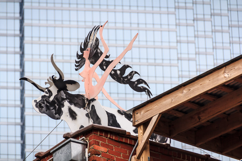 this sculpture was spotted atop the offices of smr