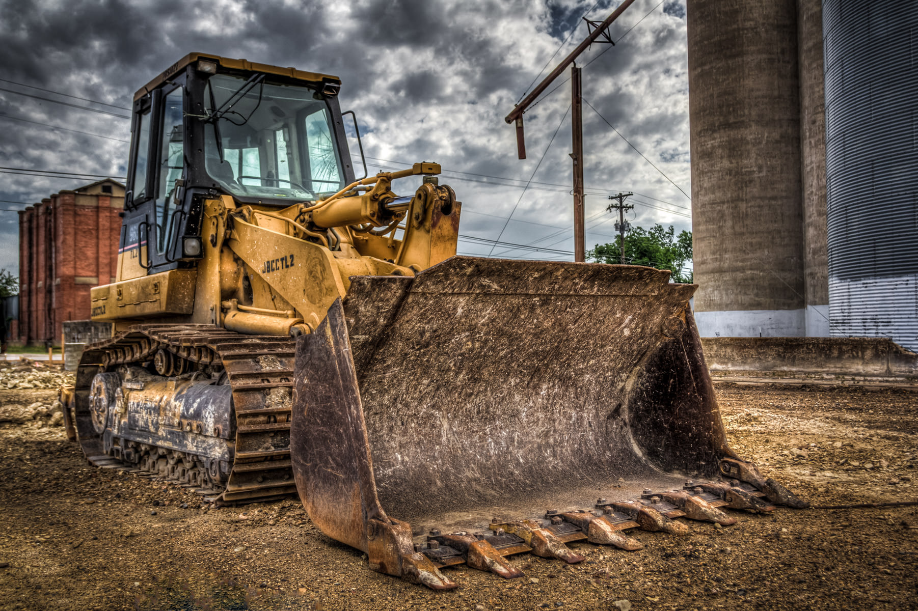 A front-end loader found at a McKinney, Texas construction site.