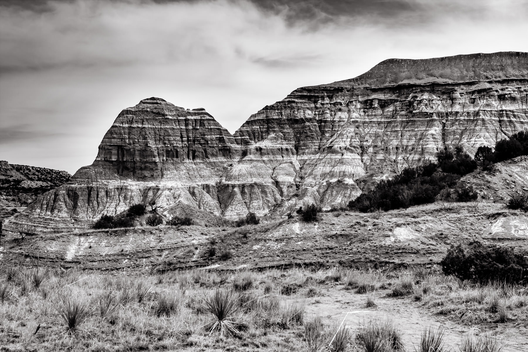 A rocky desert landscape at Palo Duro Canyon, Texas.